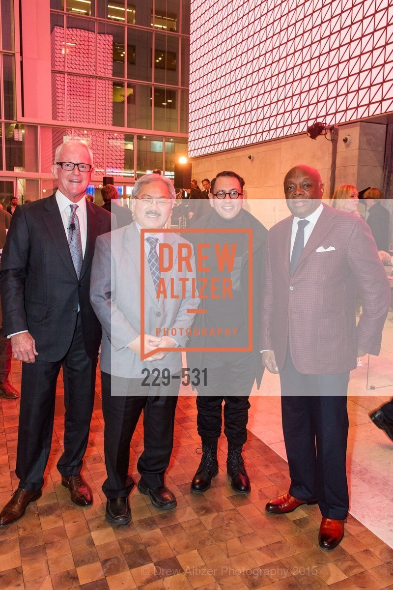 John Kilroy, Ed Lee, Refik Anadol, Willie Brown, Kilroy Unveiling Presents Virtual Depictions: San Francisco by Refik Anadol, 350 Mission Street. 350 Mission Street, November 16th, 2015,Drew Altizer, Drew Altizer Photography, full-service agency, private events, San Francisco photographer, photographer california