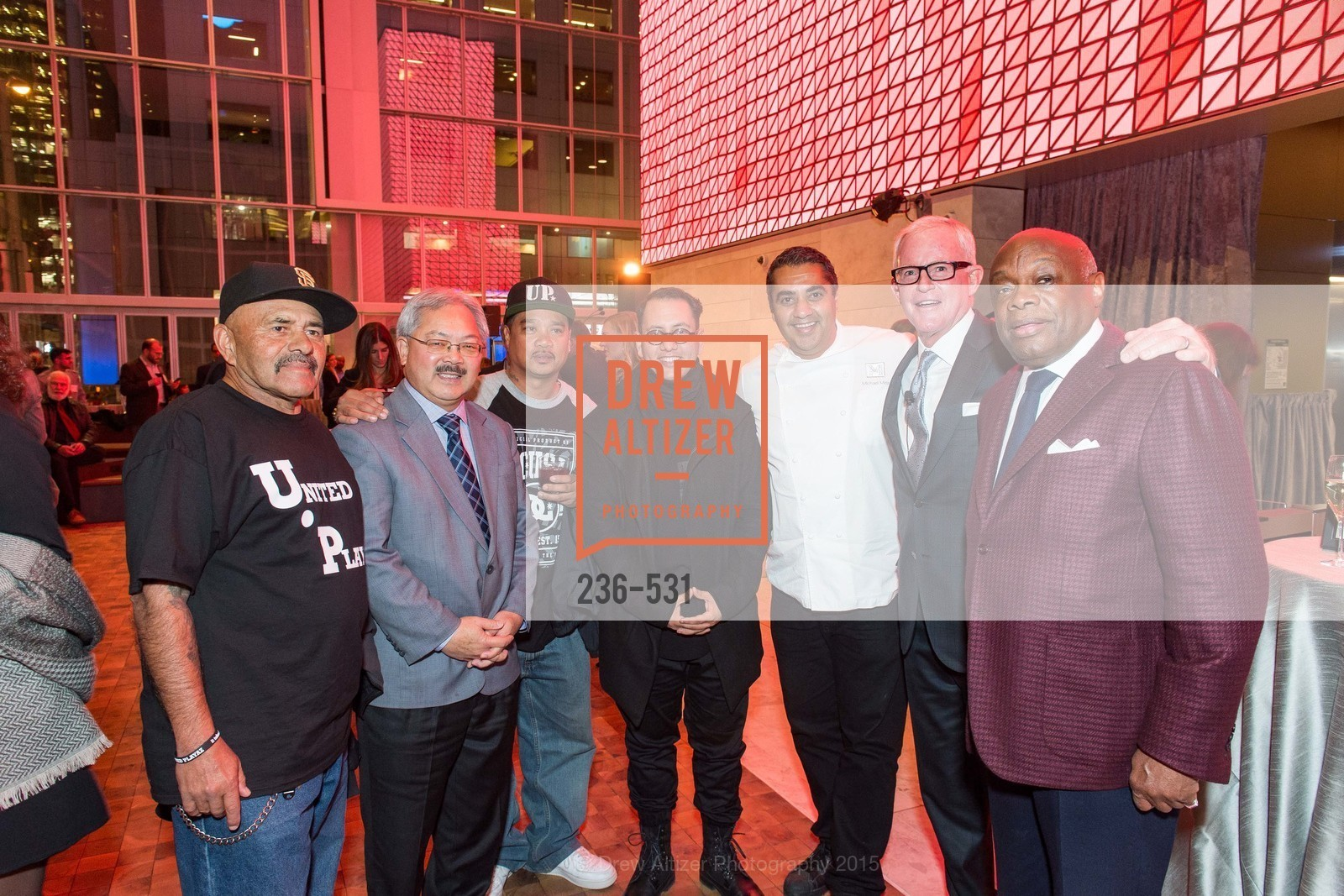 Ed Lee, Refik Anadol, Michael Mina, John Kilroy, Willie Brown, Kilroy Unveiling Presents Virtual Depictions: San Francisco by Refik Anadol, 350 Mission Street. 350 Mission Street, November 16th, 2015,Drew Altizer, Drew Altizer Photography, full-service event agency, private events, San Francisco photographer, photographer California