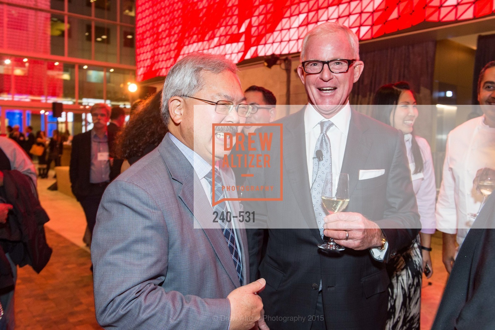 Ed Lee, John Kilroy, Kilroy Unveiling Presents Virtual Depictions: San Francisco by Refik Anadol, 350 Mission Street. 350 Mission Street, November 16th, 2015,Drew Altizer, Drew Altizer Photography, full-service agency, private events, San Francisco photographer, photographer california