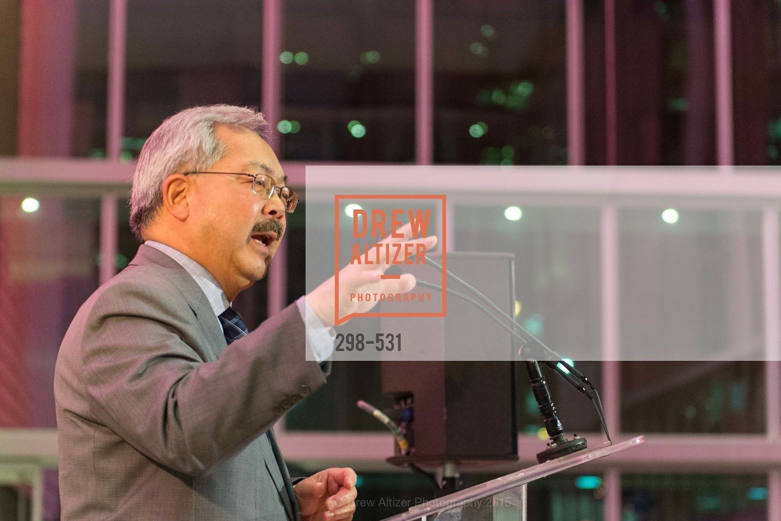 Mayor Ed Lee, Kilroy Unveiling Presents Virtual Depictions: San Francisco by Refik Anadol, 350 Mission Street. 350 Mission Street, November 16th, 2015,Drew Altizer, Drew Altizer Photography, full-service agency, private events, San Francisco photographer, photographer california