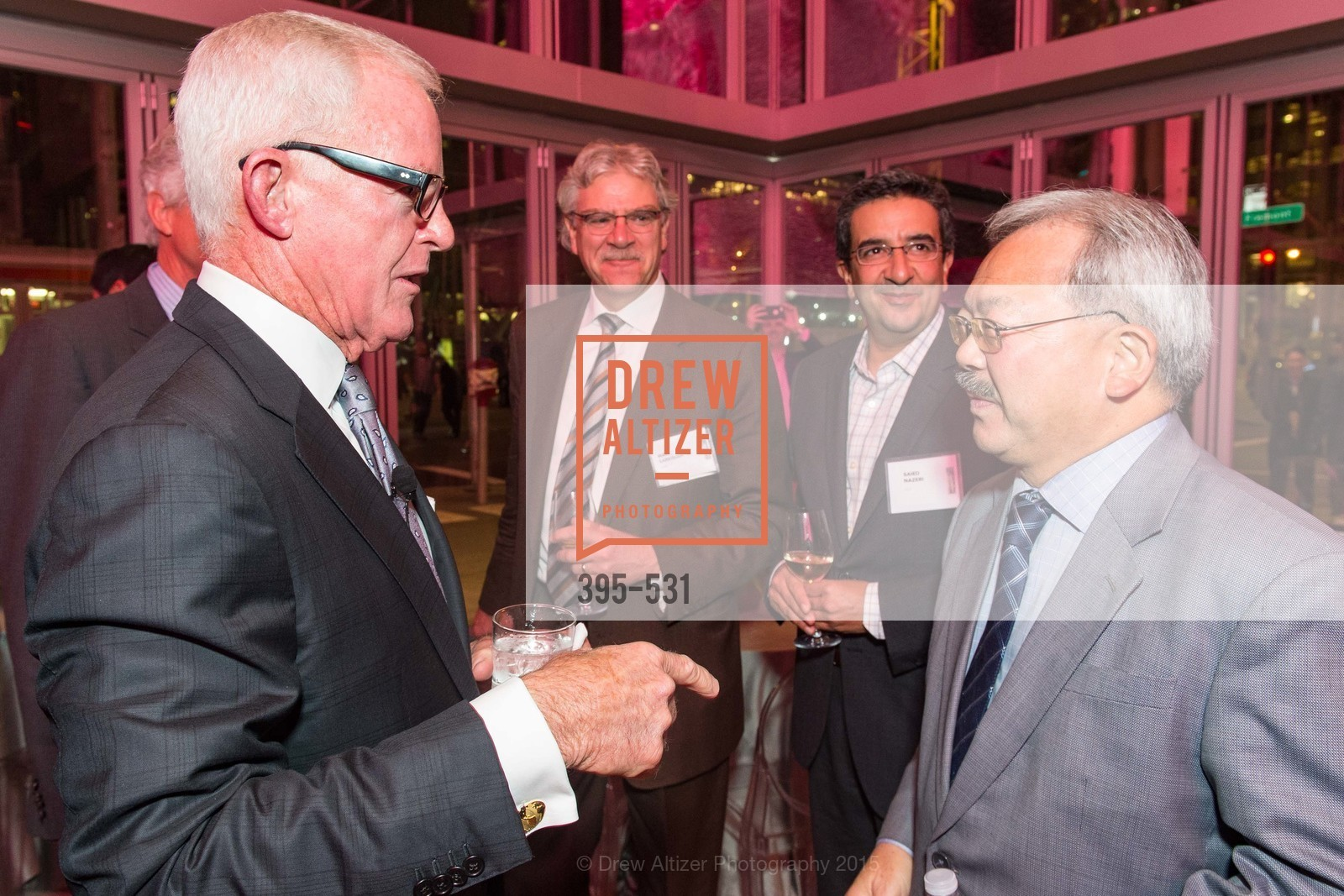 John Kilroy, Mark Sarkisian, Saied Nazeri, Mayor Ed Lee, Kilroy Unveiling Presents Virtual Depictions: San Francisco by Refik Anadol, 350 Mission Street. 350 Mission Street, November 16th, 2015,Drew Altizer, Drew Altizer Photography, full-service agency, private events, San Francisco photographer, photographer california