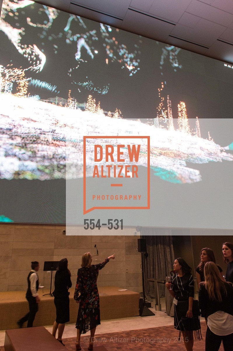 Atmosphere, Kilroy Unveiling Presents Virtual Depictions: San Francisco by Refik Anadol, 350 Mission Street. 350 Mission Street, November 16th, 2015,Drew Altizer, Drew Altizer Photography, full-service agency, private events, San Francisco photographer, photographer california