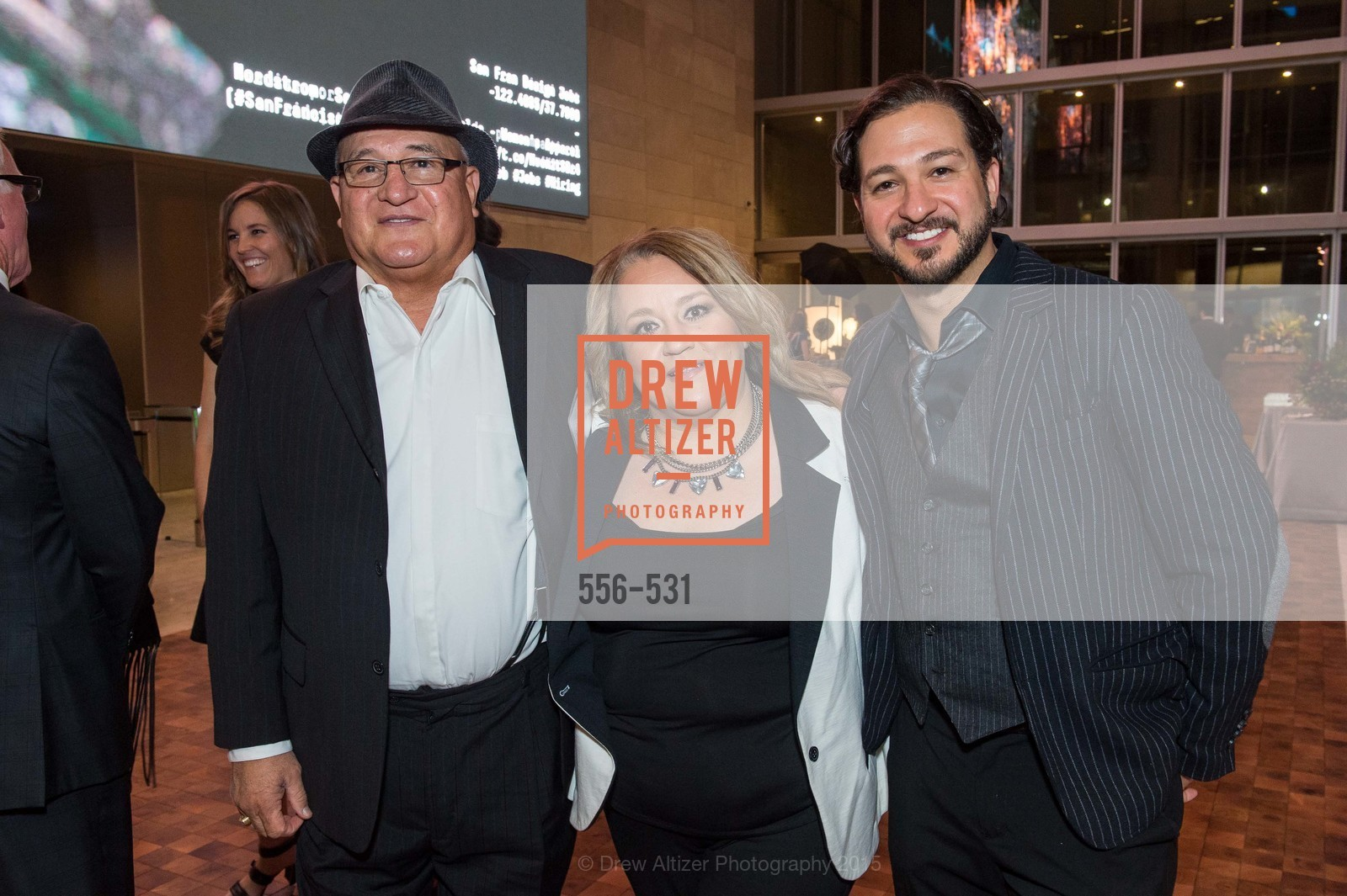 Jonathan Gomez Snr., Monica Gomez, John Gomez, Kilroy Unveiling Presents Virtual Depictions: San Francisco by Refik Anadol, 350 Mission Street. 350 Mission Street, November 16th, 2015,Drew Altizer, Drew Altizer Photography, full-service agency, private events, San Francisco photographer, photographer california