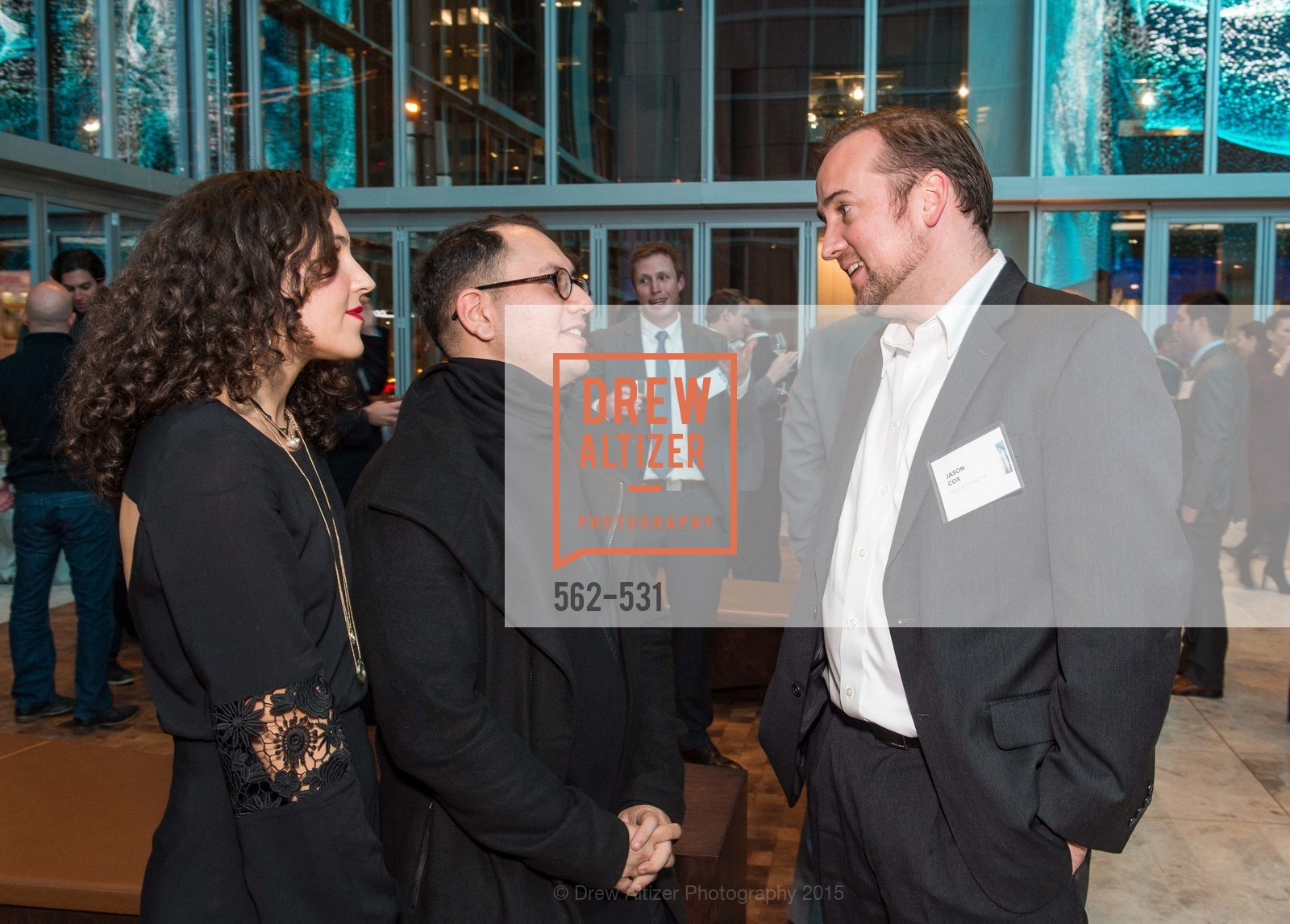 Efsun Erkilic, Refik Anadol, Jason Cox, Kilroy Unveiling Presents Virtual Depictions: San Francisco by Refik Anadol, 350 Mission Street. 350 Mission Street, November 16th, 2015,Drew Altizer, Drew Altizer Photography, full-service event agency, private events, San Francisco photographer, photographer California