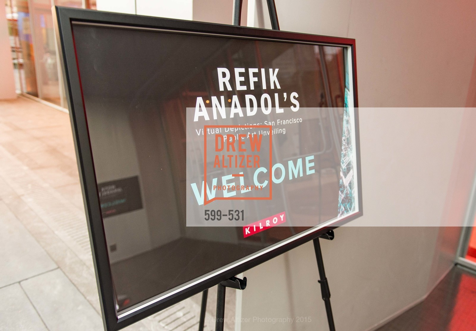 Atmosphere, Kilroy Unveiling Presents Virtual Depictions: San Francisco by Refik Anadol, 350 Mission Street. 350 Mission Street, November 16th, 2015,Drew Altizer, Drew Altizer Photography, full-service event agency, private events, San Francisco photographer, photographer California
