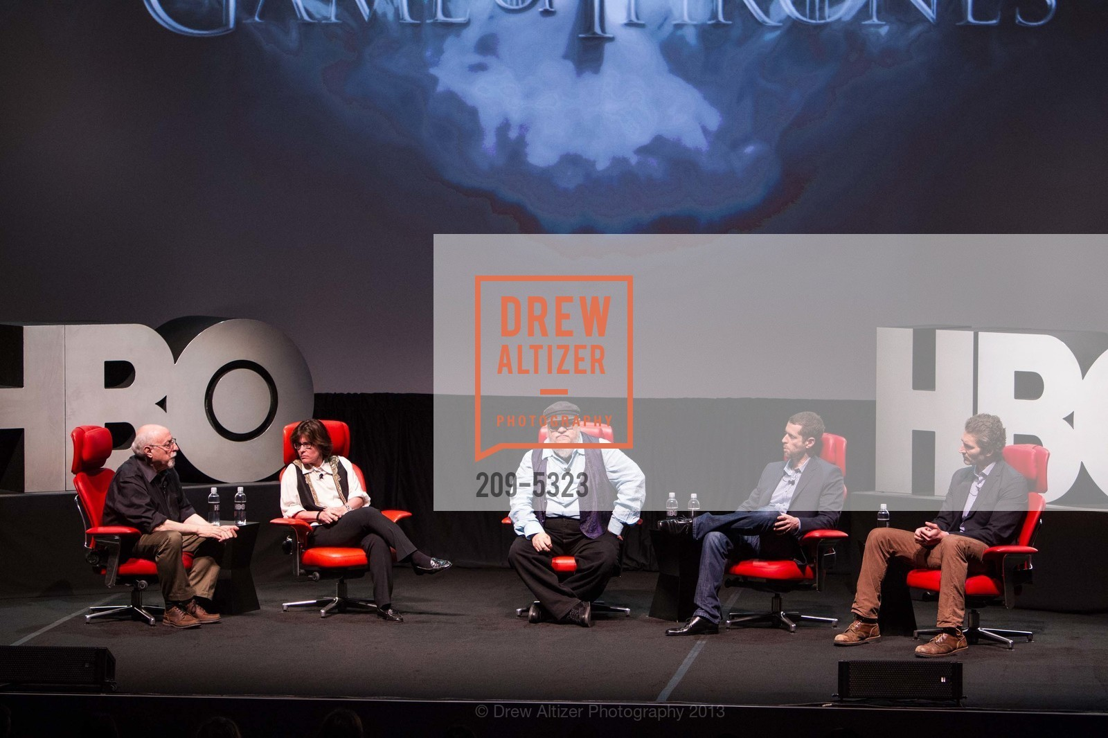 Walt Mossberg, Kara Swisher, George R.R. Martin, D.B. Weiss, David Benioff, Photo #209-5323