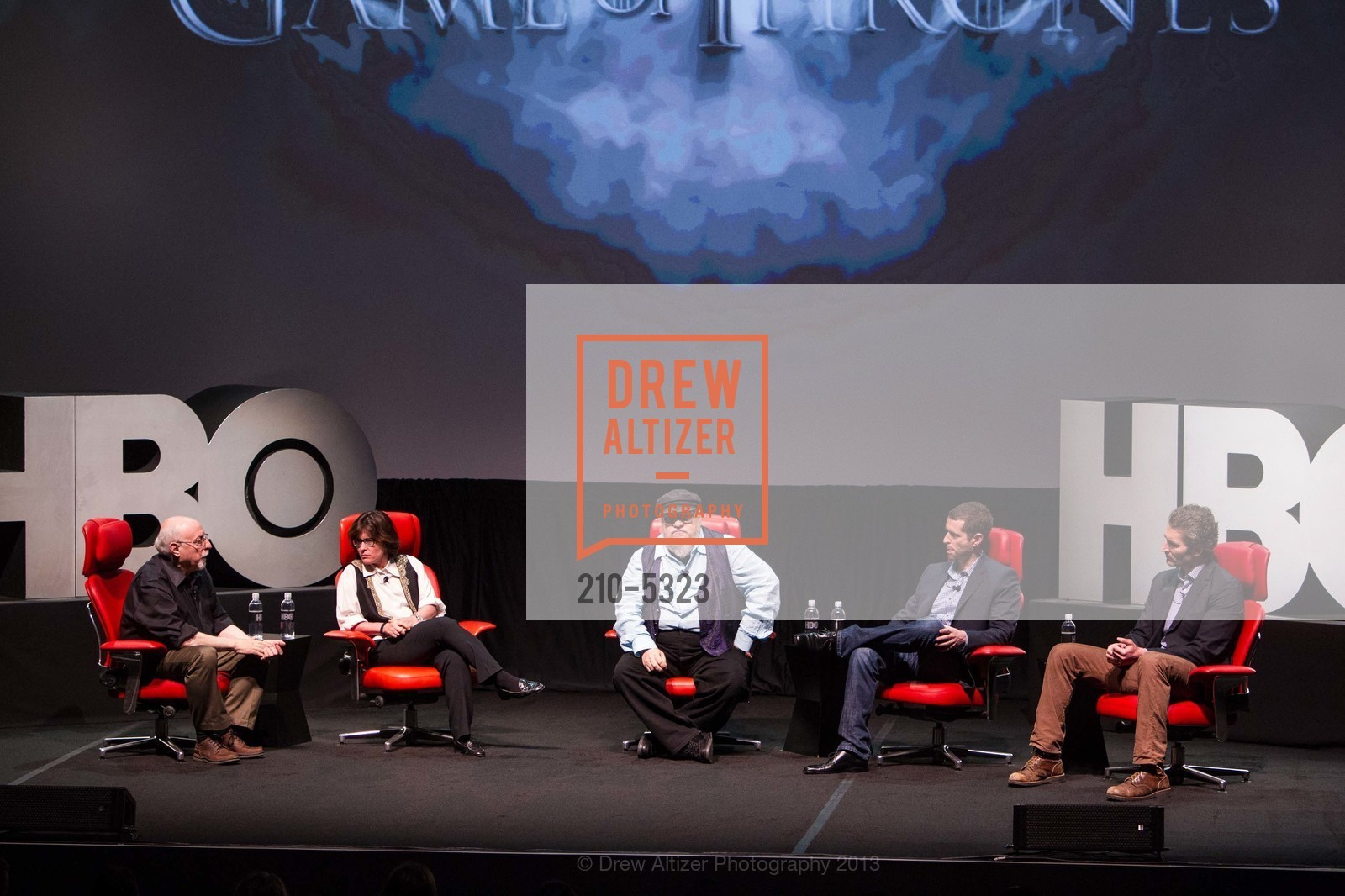 Walt Mossberg, Kara Swisher, George R.R. Martin, D.B. Weiss, David Benioff, Photo #210-5323