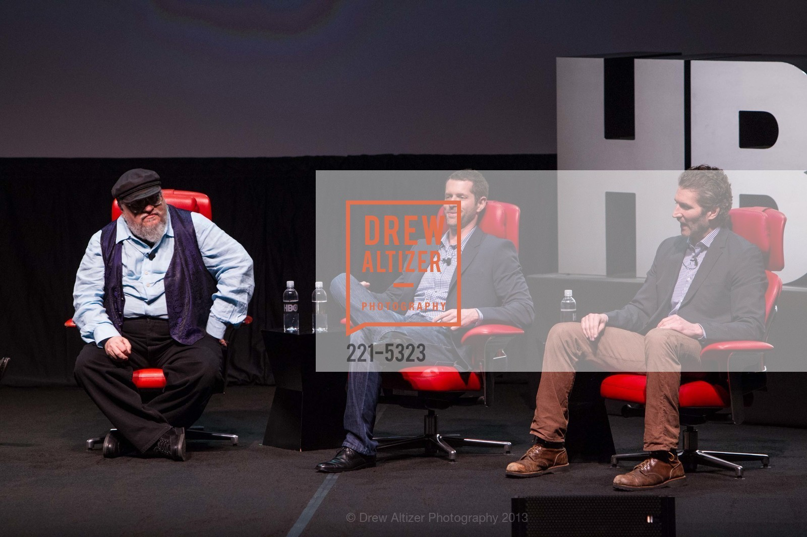 George R.R. Martin, D.B. Weiss, David Benioff, Photo #221-5323