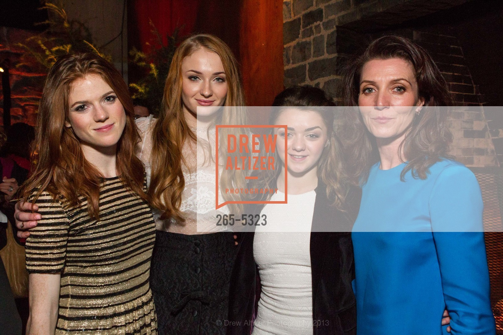 Rose Leslie, Sophie Turner, Maisie Williams, Michelle Fairley, Photo #265-5323