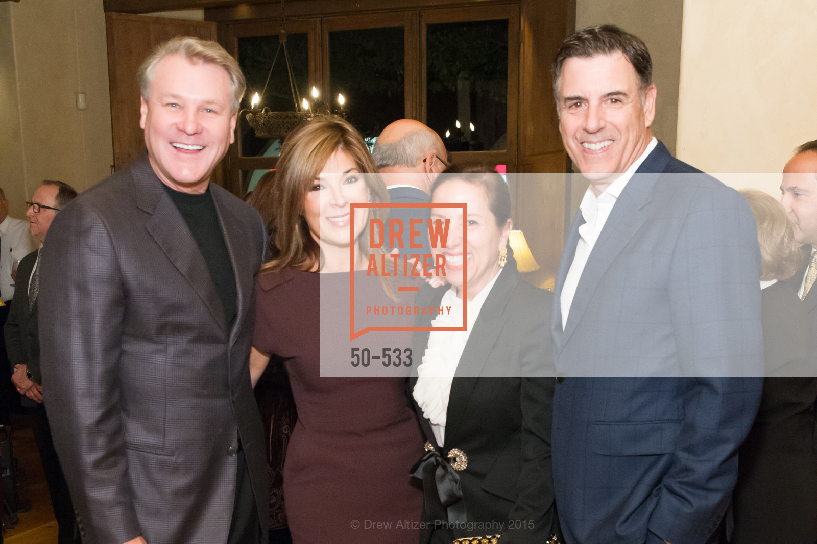 Randy Fry, Vicki Liviakis, Eleni Kounalakis, Markos Kounalakis, Hellenic Charity Ball Cocktail Reception, Kokkari. 200 Jackson St, San Francisco, CA 94111, November 13th, 2015,Drew Altizer, Drew Altizer Photography, full-service agency, private events, San Francisco photographer, photographer california