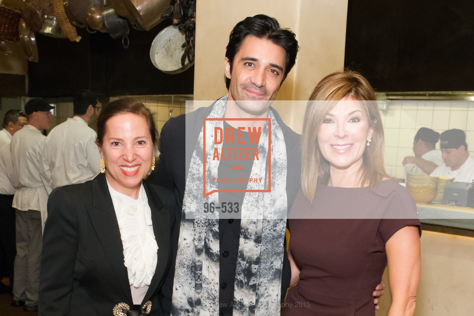 Eleni Kounalakis, Gilles Marini, Vicki Liviakis, Hellenic Charity Ball Cocktail Reception, Kokkari. 200 Jackson St, San Francisco, CA 94111, November 13th, 2015,Drew Altizer, Drew Altizer Photography, full-service event agency, private events, San Francisco photographer, photographer California