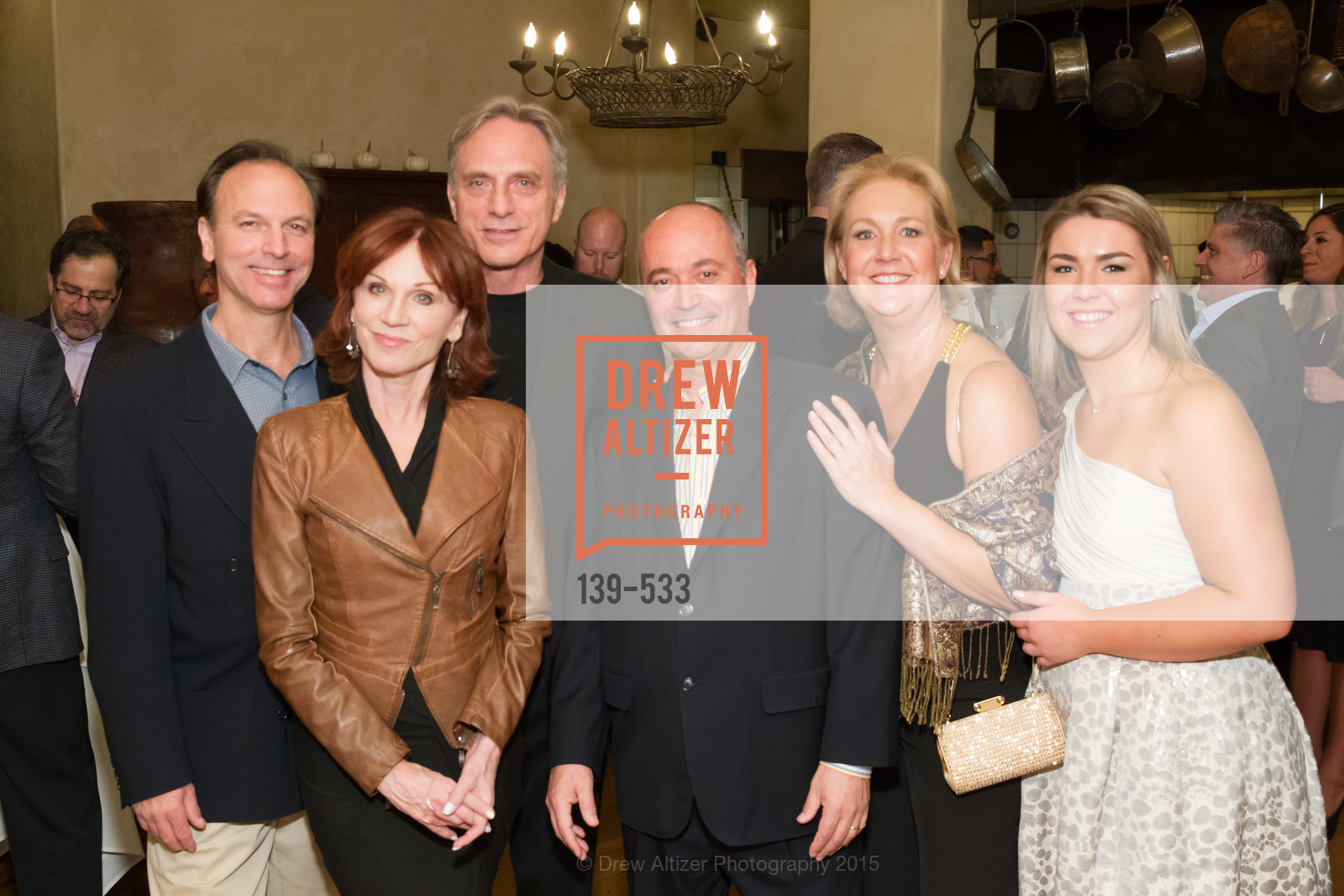 Lorin Henner, Marilu Henner, Michael Brown, John Gumas, Janice Gumas, Hellenic Charity Ball Cocktail Reception, Kokkari. 200 Jackson St, San Francisco, CA 94111, November 13th, 2015,Drew Altizer, Drew Altizer Photography, full-service agency, private events, San Francisco photographer, photographer california
