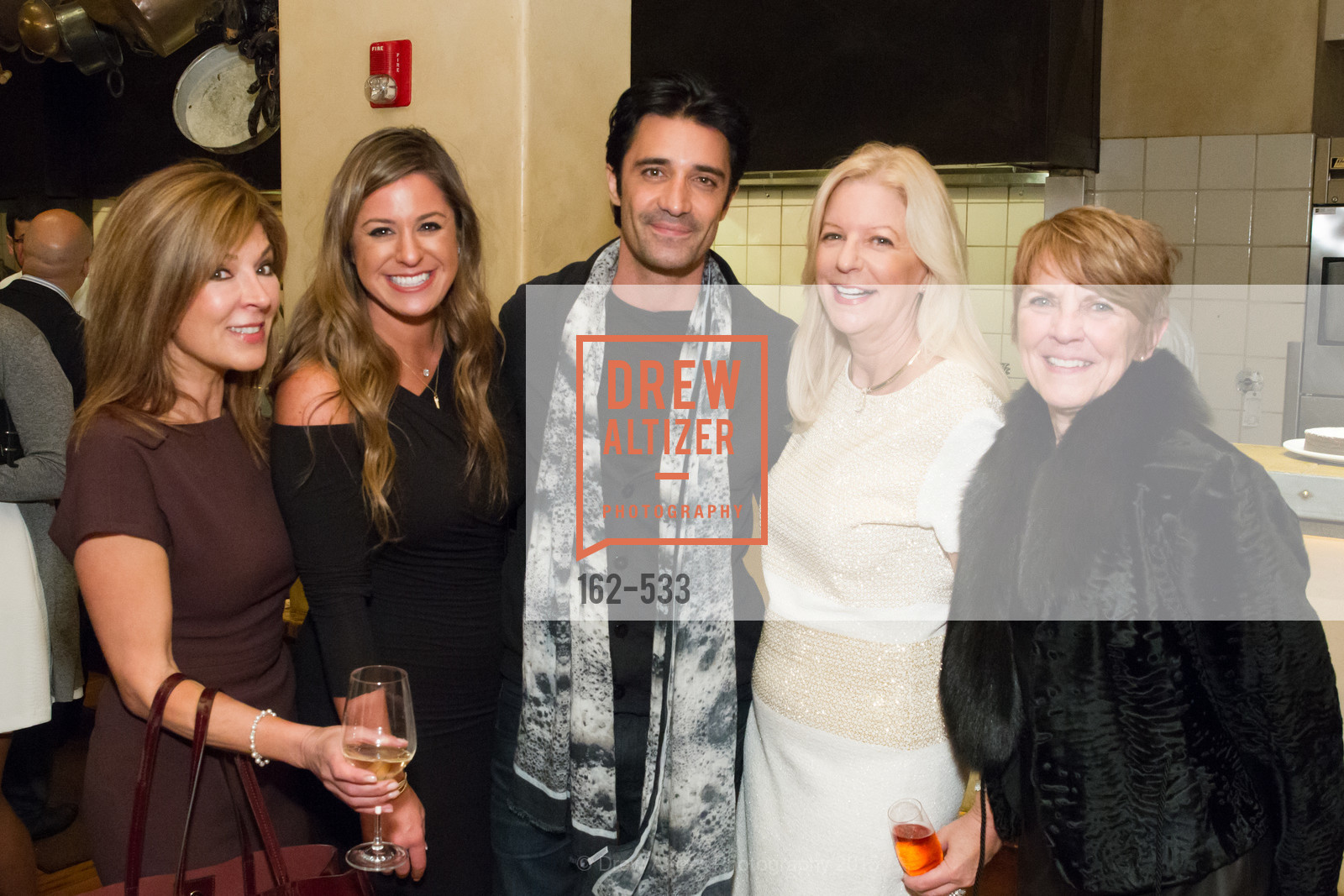 Vicki Liviakis, Alexis MacMunn, Gilles Marini, Judy Padis, Pat Grillos, Hellenic Charity Ball Cocktail Reception, Kokkari. 200 Jackson St, San Francisco, CA 94111, November 13th, 2015,Drew Altizer, Drew Altizer Photography, full-service agency, private events, San Francisco photographer, photographer california