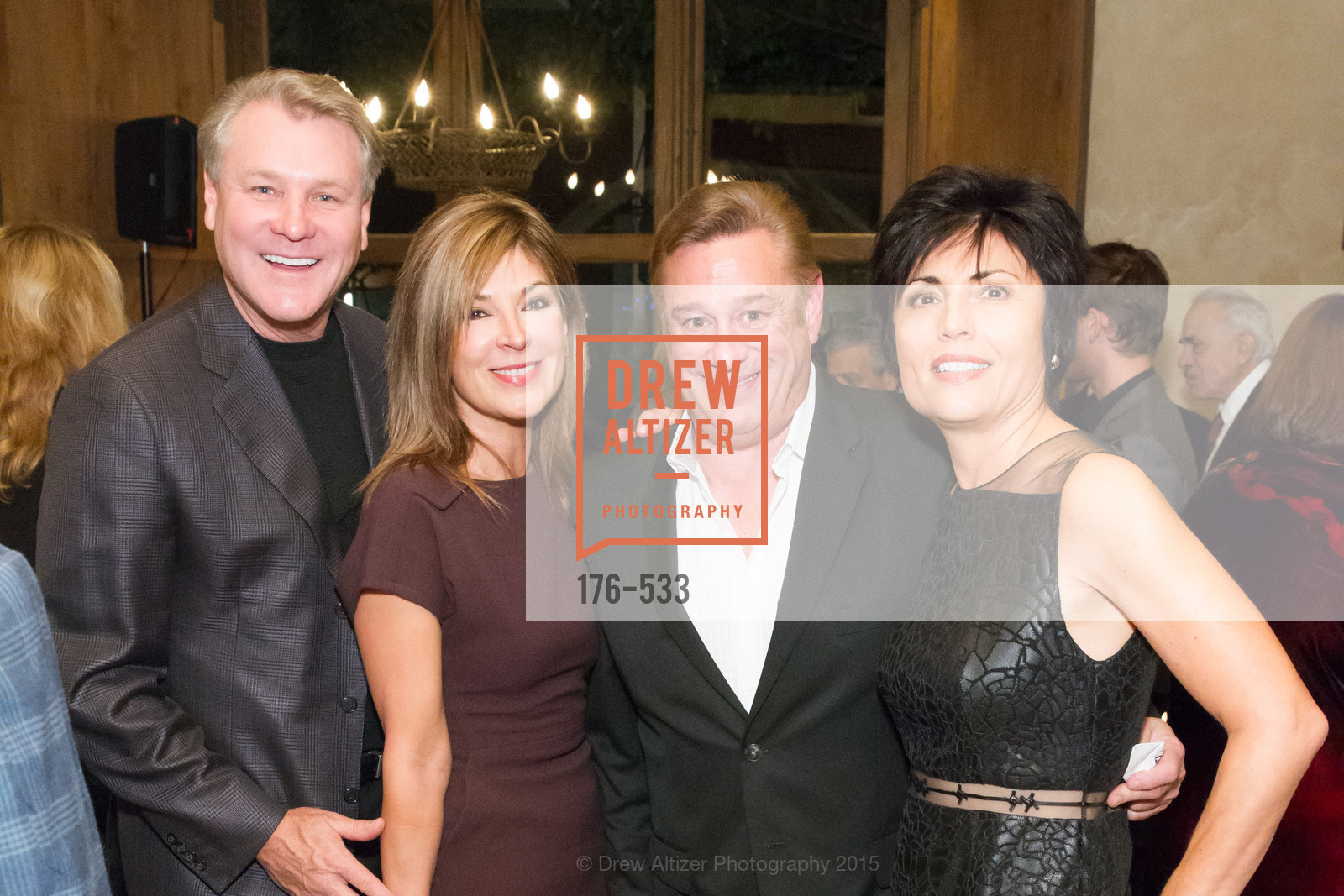 Randy Fry, Vicki Liviakis, Steve Padis, Joan Dauria, Hellenic Charity Ball Cocktail Reception, Kokkari. 200 Jackson St, San Francisco, CA 94111, November 13th, 2015,Drew Altizer, Drew Altizer Photography, full-service agency, private events, San Francisco photographer, photographer california