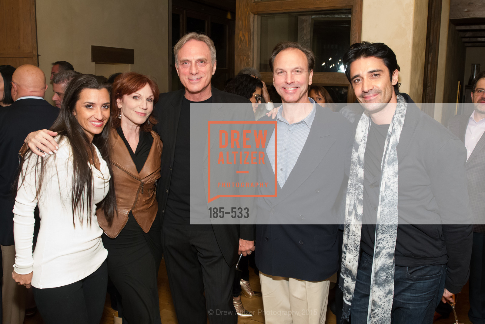 Cheryl Marini, Marilu Henner, Michael Brown, Lorin Henner, Gilles Marini, Hellenic Charity Ball Cocktail Reception, Kokkari. 200 Jackson St, San Francisco, CA 94111, November 13th, 2015,Drew Altizer, Drew Altizer Photography, full-service agency, private events, San Francisco photographer, photographer california
