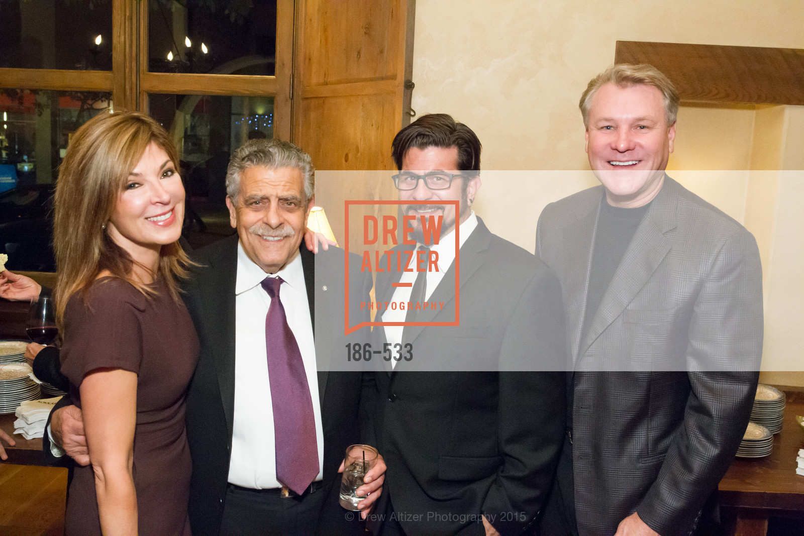 Vicki Liviakis, Ken Frangadakis, George Frangadakis, Randy Fry, Hellenic Charity Ball Cocktail Reception, Kokkari. 200 Jackson St, San Francisco, CA 94111, November 13th, 2015