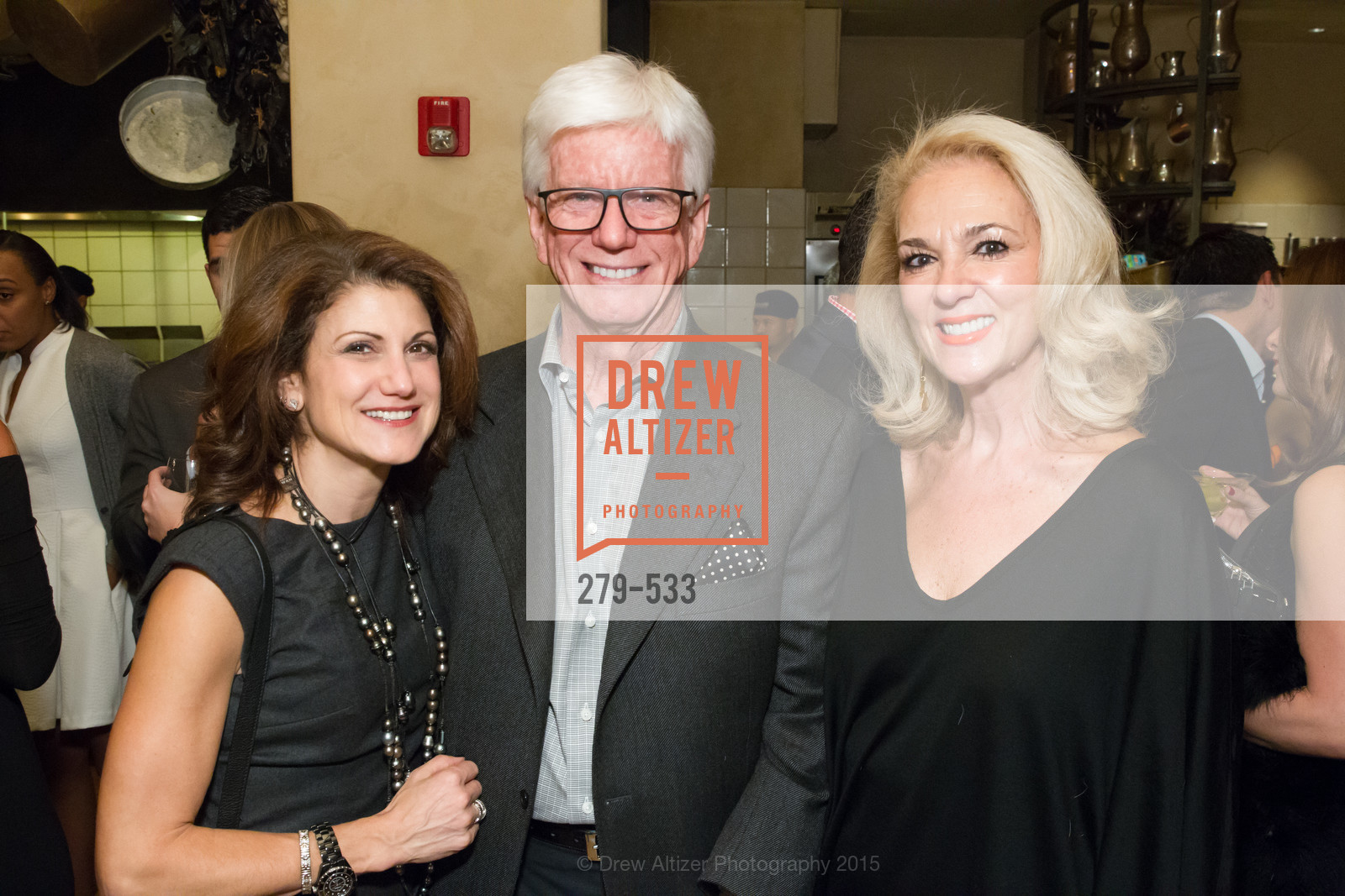 Niki Leondakis, Bob Puccini, Athena Marks, Hellenic Charity Ball Cocktail Reception, Kokkari. 200 Jackson St, San Francisco, CA 94111, November 13th, 2015,Drew Altizer, Drew Altizer Photography, full-service agency, private events, San Francisco photographer, photographer california