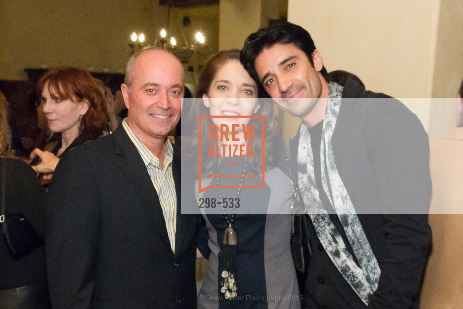 John Gumas, Elaine Alexopoulos, Gilles Marini, Hellenic Charity Ball Cocktail Reception, Kokkari. 200 Jackson St, San Francisco, CA 94111, November 13th, 2015,Drew Altizer, Drew Altizer Photography, full-service event agency, private events, San Francisco photographer, photographer California