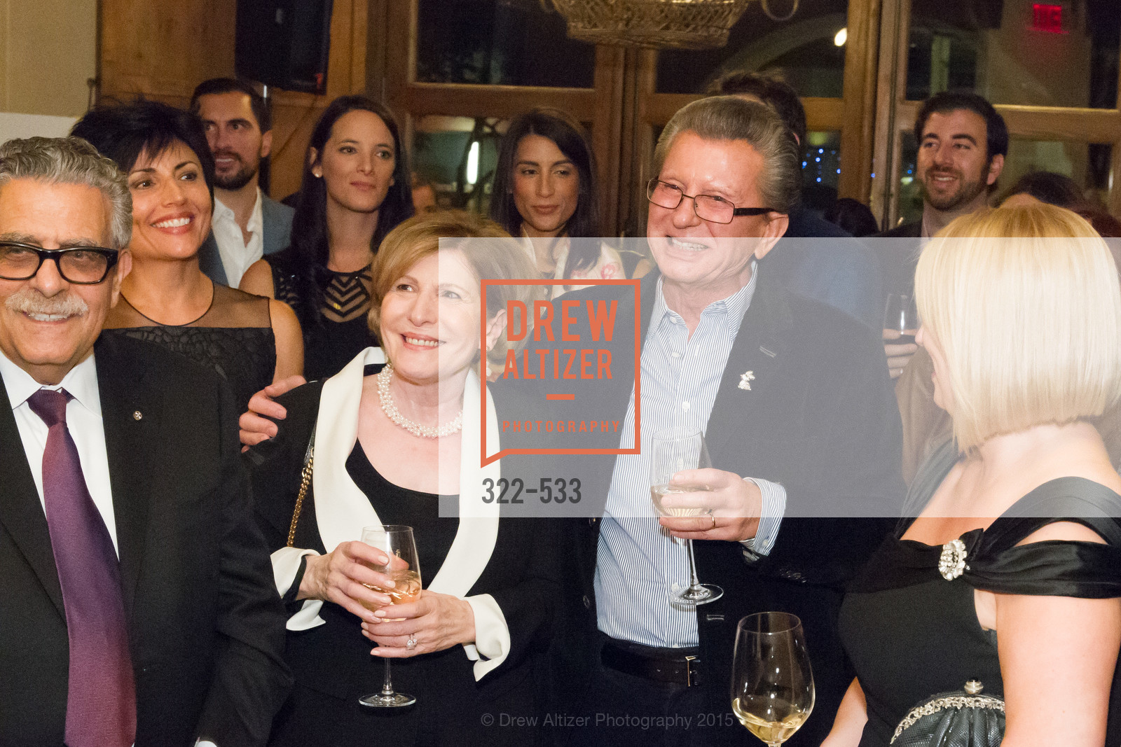 Tula Mouroufas, George Marcus, Hellenic Charity Ball Cocktail Reception, Kokkari. 200 Jackson St, San Francisco, CA 94111, November 13th, 2015,Drew Altizer, Drew Altizer Photography, full-service agency, private events, San Francisco photographer, photographer california