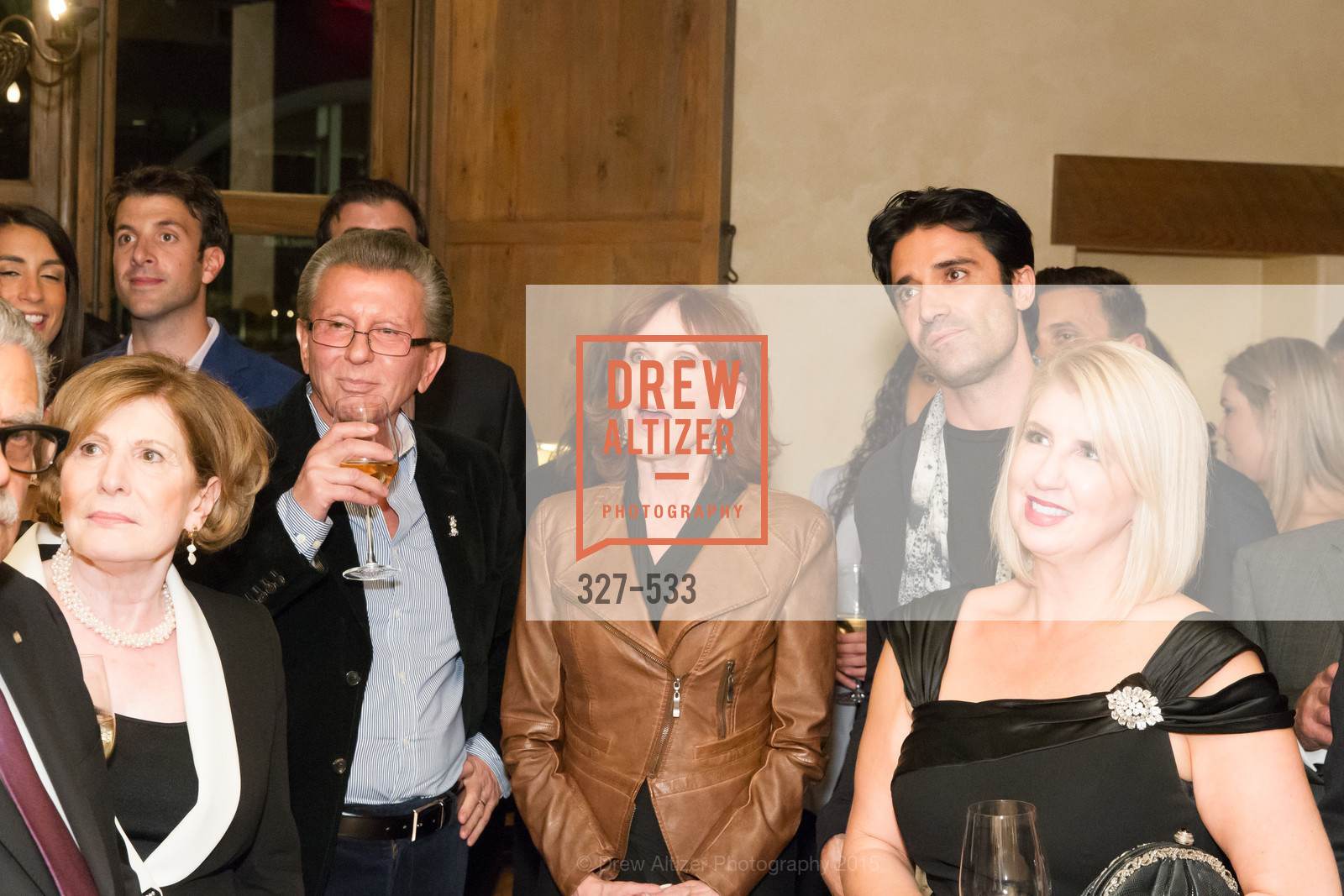 Tula Mouroufas, George Marcus, Marilu Henner, Gilles Marini, Roberta Economidis, Hellenic Charity Ball Cocktail Reception, Kokkari. 200 Jackson St, San Francisco, CA 94111, November 13th, 2015,Drew Altizer, Drew Altizer Photography, full-service agency, private events, San Francisco photographer, photographer california