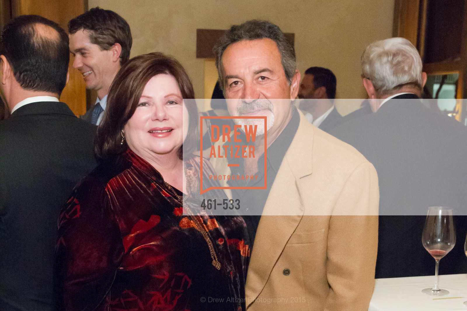 Celia Manitsas, Taso Manitsas, Hellenic Charity Ball Cocktail Reception, Kokkari. 200 Jackson St, San Francisco, CA 94111, November 13th, 2015
