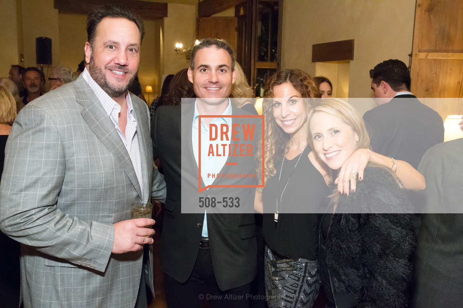 Chris Apostolopoulos, Patrick Mockler, Naki Bauer, Vanessa Mockler, Hellenic Charity Ball Cocktail Reception, Kokkari. 200 Jackson St, San Francisco, CA 94111, November 13th, 2015,Drew Altizer, Drew Altizer Photography, full-service agency, private events, San Francisco photographer, photographer california