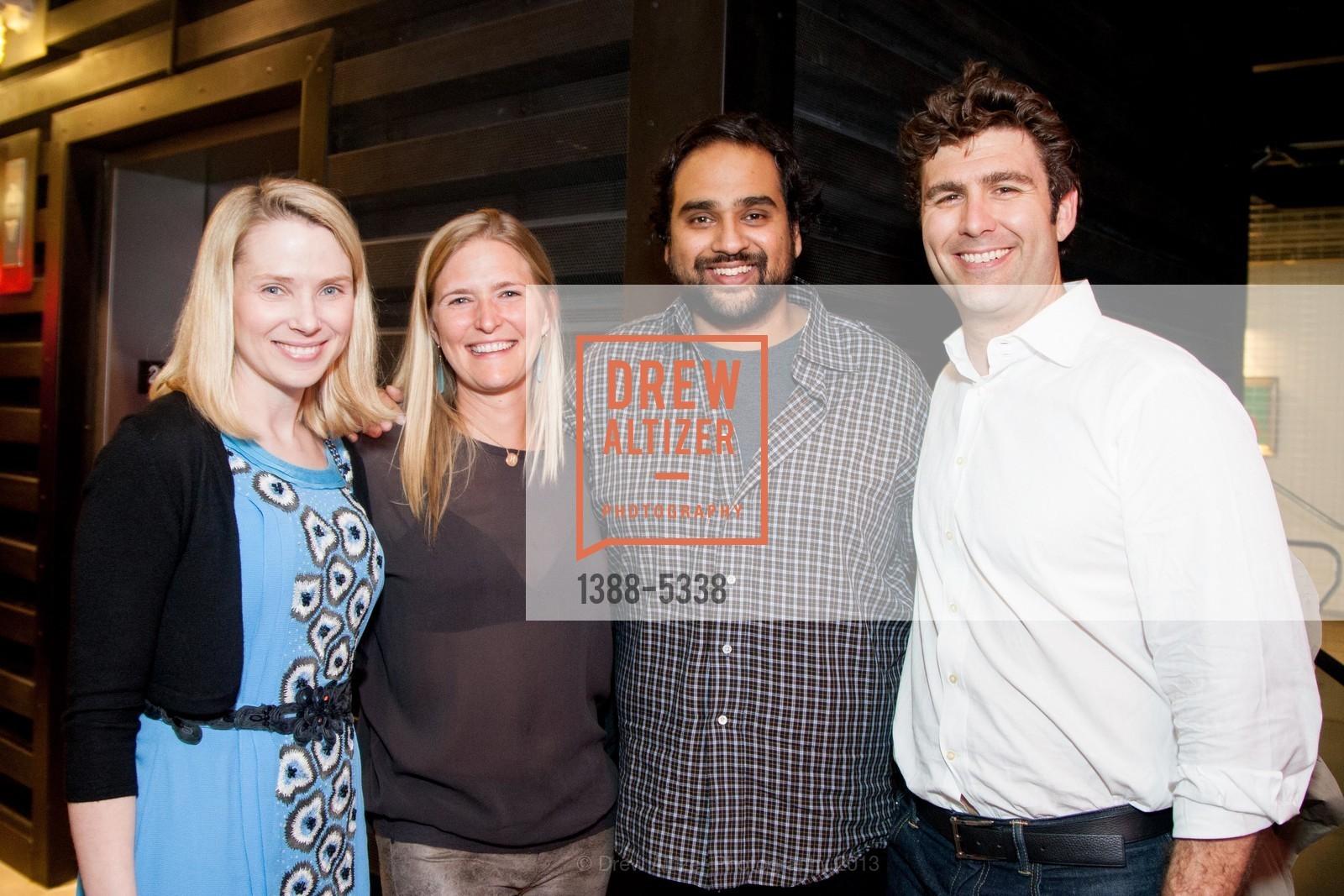 Marissa Mayer, Alicia Engstrom, Hosain Rahman, Zachary Bogue, Photo #1388-5338