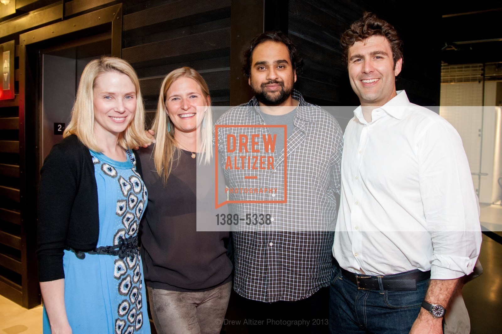 Marissa Mayer, Alicia Engstrom, Hosain Rahman, Zachary Bogue, Photo #1389-5338