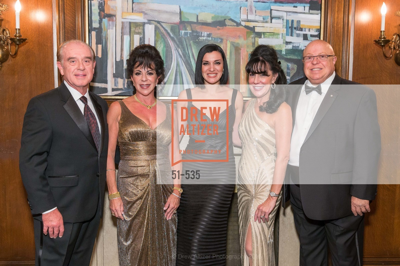 Tom Foster, Katherine Foster, Ariana Savalas, Jeanne Ranglas, Gerry Ranglas, Hellenic Charity Ball, Westin St. Francis. 335 Powell Street, November 14th, 2015