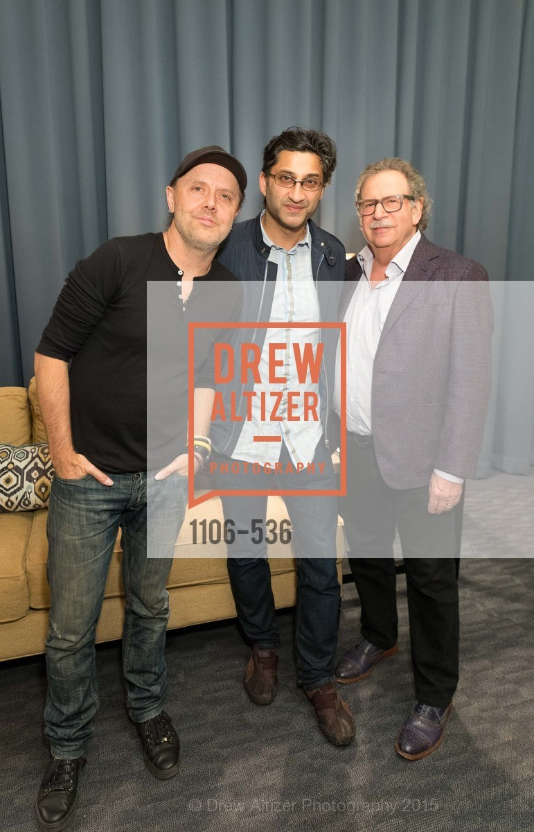 Lars Ulrich, Asif Kapadia, Mark Fishkin, AMY Screening with Director Asif Kapadia and Lars Ulrich, Christopher B. Smith Rafael Film Center. 1118 Fourth Street, November 15th, 2015,Drew Altizer, Drew Altizer Photography, full-service agency, private events, San Francisco photographer, photographer california