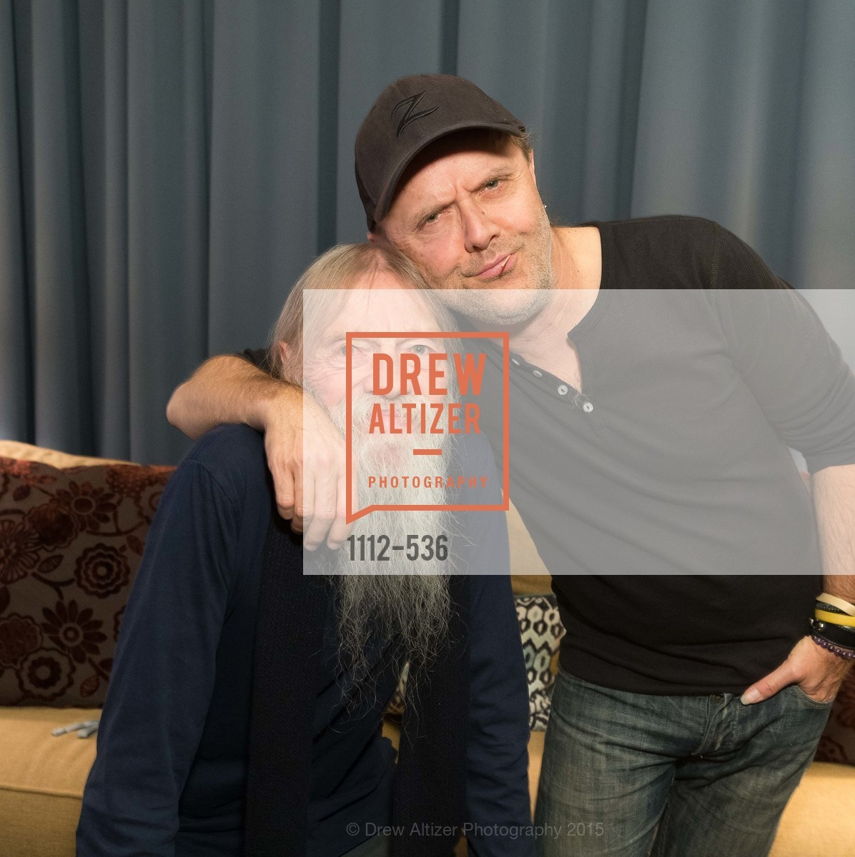 Torben Ulrich, Lars Ulrich, AMY Screening with Director Asif Kapadia and Lars Ulrich, Christopher B. Smith Rafael Film Center. 1118 Fourth Street, November 15th, 2015,Drew Altizer, Drew Altizer Photography, full-service agency, private events, San Francisco photographer, photographer california