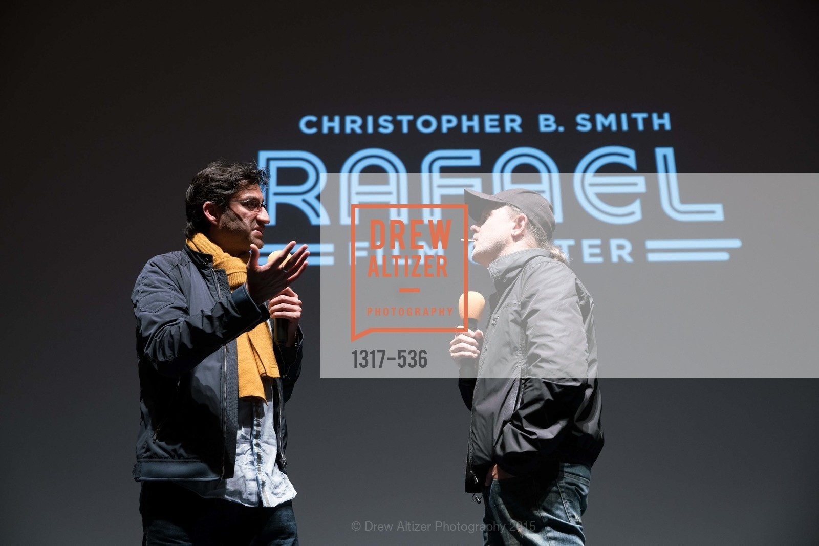 Asif Kapadia, Lars Ulrich, AMY Screening with Director Asif Kapadia and Lars Ulrich, Christopher B. Smith Rafael Film Center. 1118 Fourth Street, November 15th, 2015,Drew Altizer, Drew Altizer Photography, full-service event agency, private events, San Francisco photographer, photographer California