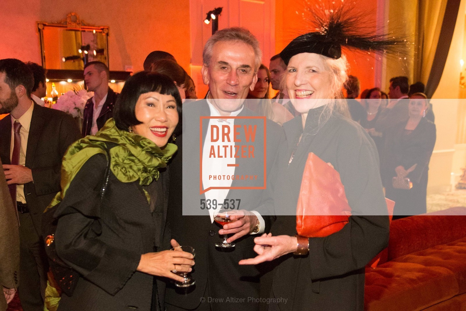 Amy Tan, Lou DeMattei, Leah Garchick, TOP OF THE MARK'S 75TH Anniversary Party, US, November 7th, 2014,Drew Altizer, Drew Altizer Photography, full-service agency, private events, San Francisco photographer, photographer california
