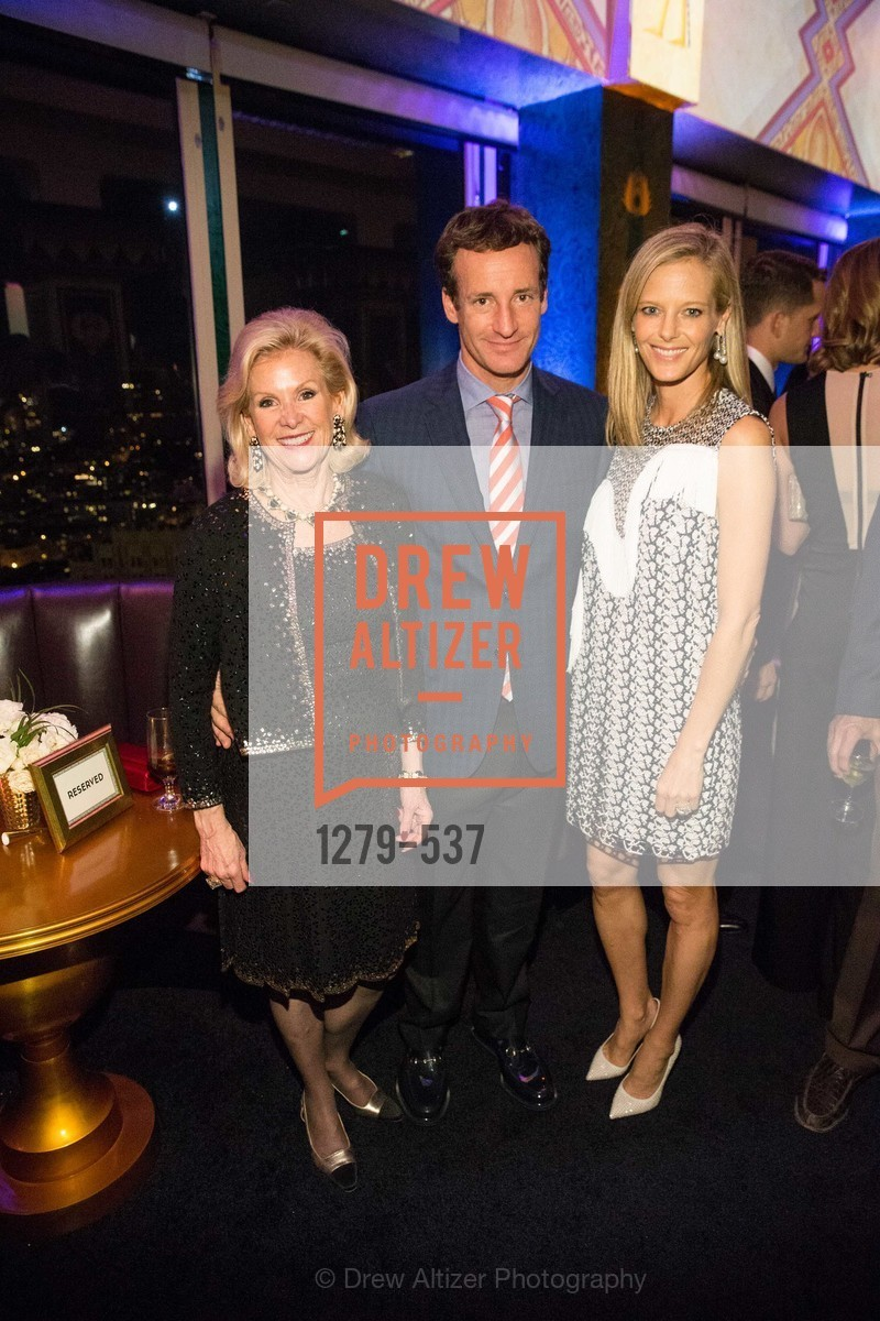 Dede Wilsey, Todd Traina, Katie Traina, TOP OF THE MARK'S 75TH Anniversary Party, US, November 7th, 2014