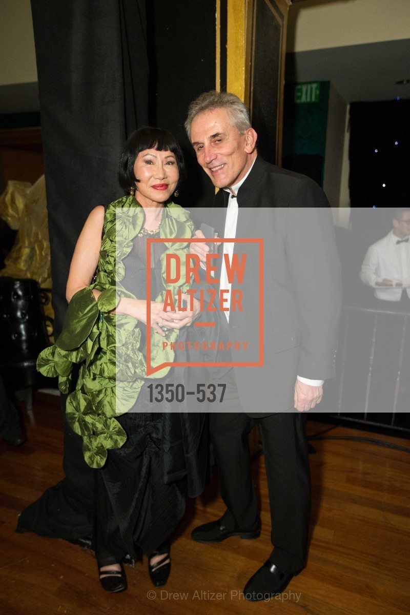 Amy Tan, Lou DeMattei, TOP OF THE MARK'S 75TH Anniversary Party, US, November 6th, 2014,Drew Altizer, Drew Altizer Photography, full-service agency, private events, San Francisco photographer, photographer california