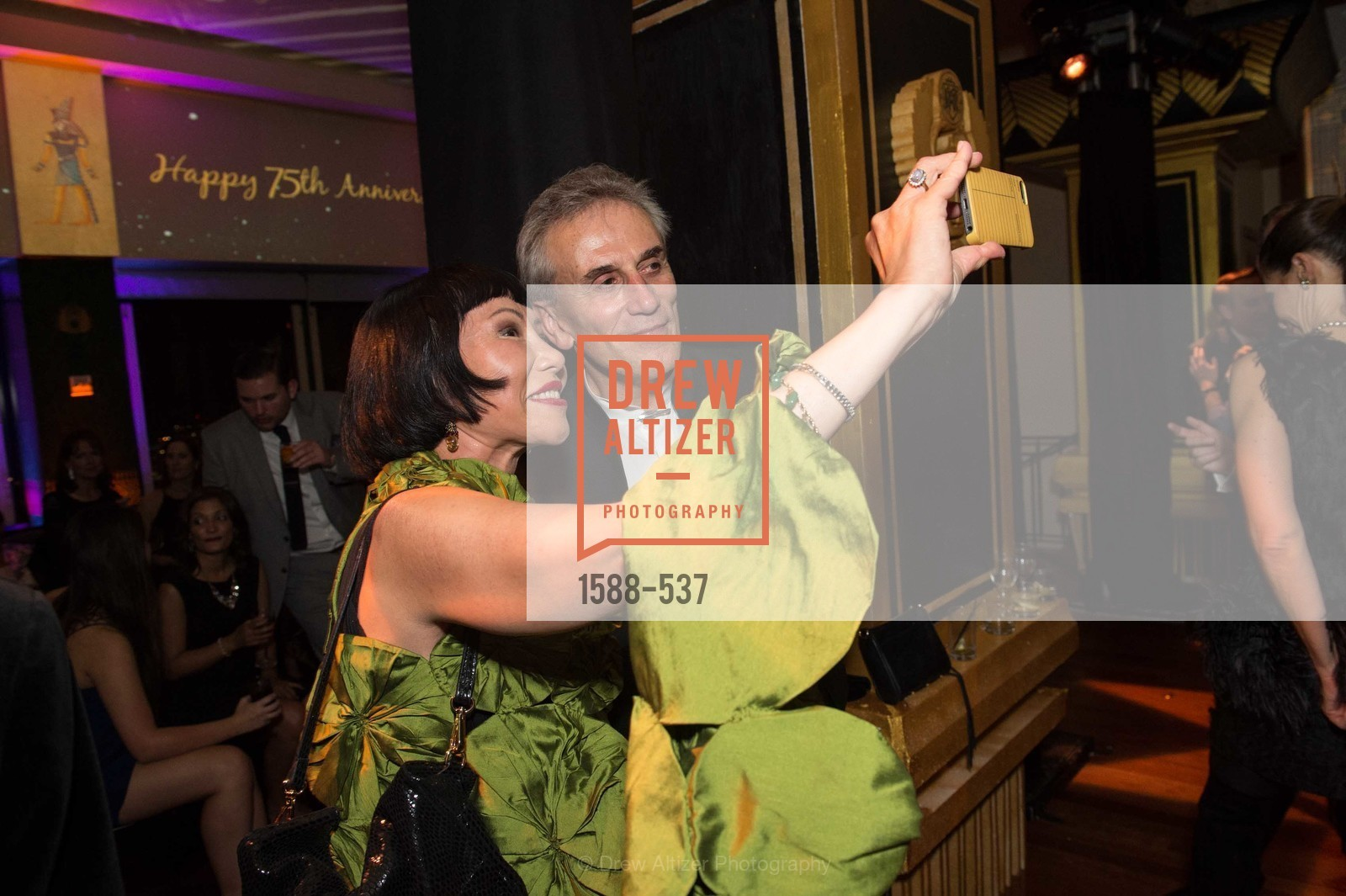 Amy Tan, Lou DeMattei, TOP OF THE MARK'S 75TH Anniversary Party, US, November 7th, 2014,Drew Altizer, Drew Altizer Photography, full-service agency, private events, San Francisco photographer, photographer california