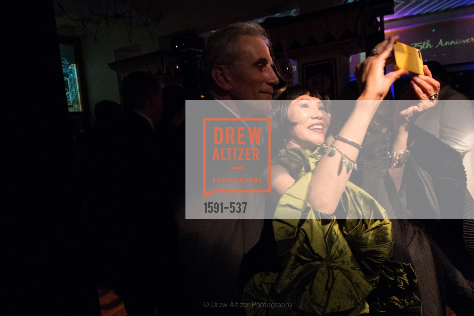 Lou DeMattei, Amy Tan, TOP OF THE MARK'S 75TH Anniversary Party, US, November 6th, 2014,Drew Altizer, Drew Altizer Photography, full-service agency, private events, San Francisco photographer, photographer california