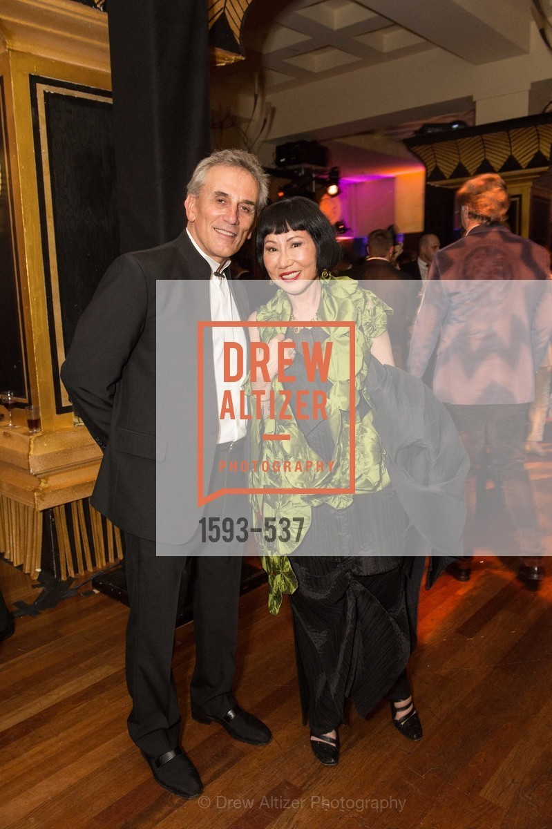 Lou DeMattei, Amy Tan, TOP OF THE MARK'S 75TH Anniversary Party, US, November 7th, 2014