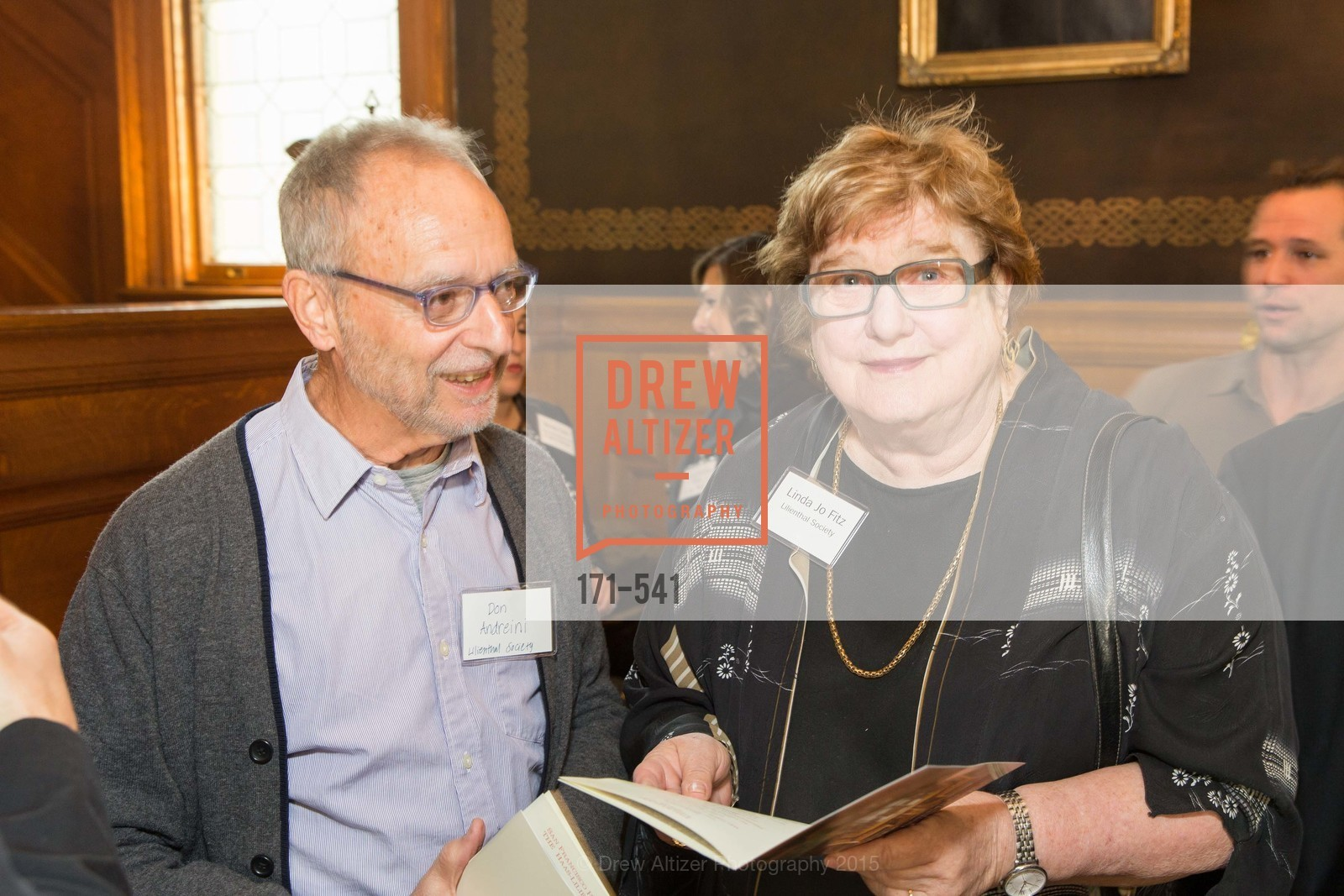 Don Andreini, Linda Jo Fitz, Ceremony Inaugurating the Campaign for San Francisco Heritage & Haas-Lilienthal House, Haas-Lilienthal House. 2007 Franklin Street, November 18th, 2015,Drew Altizer, Drew Altizer Photography, full-service agency, private events, San Francisco photographer, photographer california