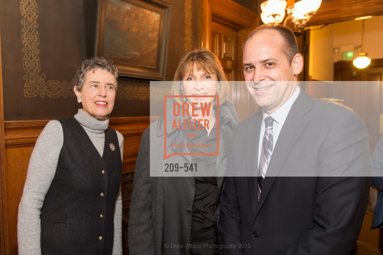 Alice Russell-Shapiro, Tina Frank, Mike Buhler, Ceremony Inaugurating the Campaign for San Francisco Heritage & Haas-Lilienthal House, Haas-Lilienthal House. 2007 Franklin Street, November 18th, 2015,Drew Altizer, Drew Altizer Photography, full-service agency, private events, San Francisco photographer, photographer california
