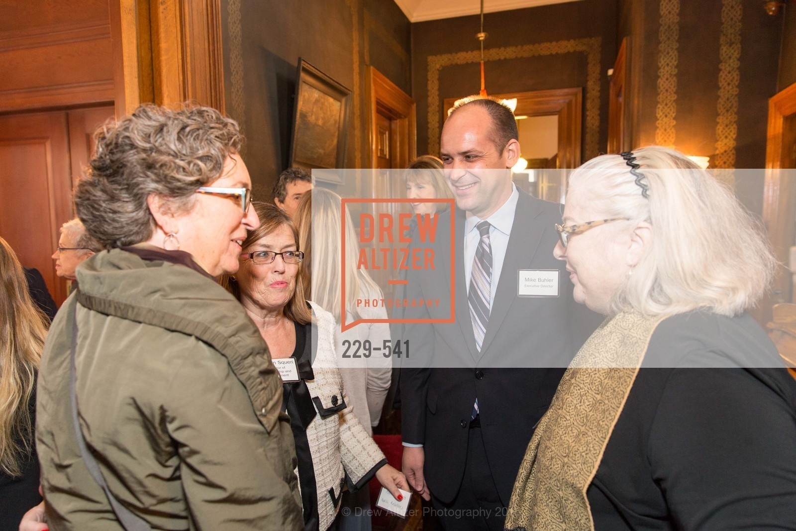 Debbie Cooper, Carolyn Squeri, Mike Buhler, Ceremony Inaugurating the Campaign for San Francisco Heritage & Haas-Lilienthal House, Haas-Lilienthal House. 2007 Franklin Street, November 18th, 2015,Drew Altizer, Drew Altizer Photography, full-service agency, private events, San Francisco photographer, photographer california