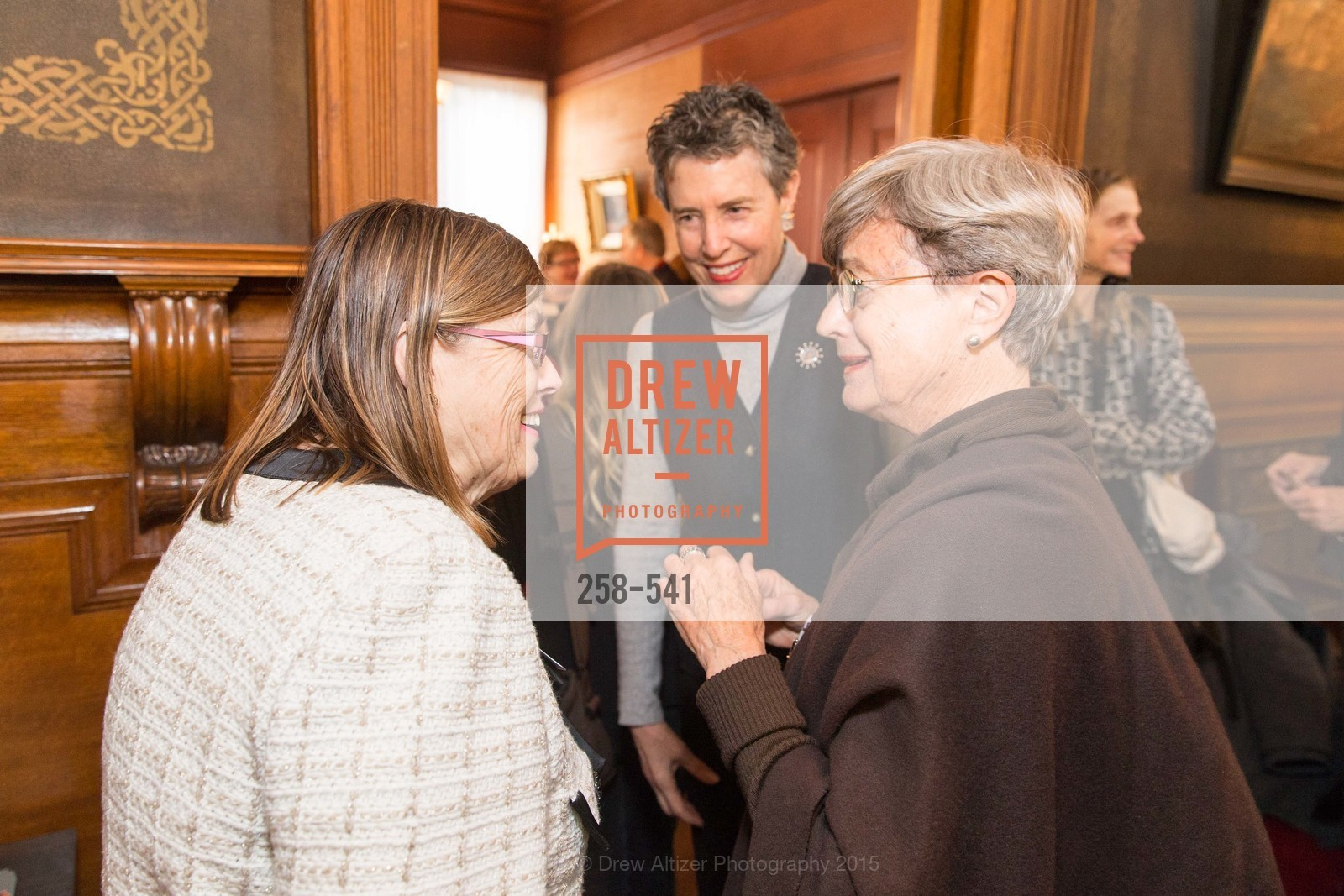 Carolyn Squeri, Alice Russell-Shapiro, Lucy Matzger, Ceremony Inaugurating the Campaign for San Francisco Heritage & Haas-Lilienthal House, Haas-Lilienthal House. 2007 Franklin Street, November 18th, 2015,Drew Altizer, Drew Altizer Photography, full-service agency, private events, San Francisco photographer, photographer california