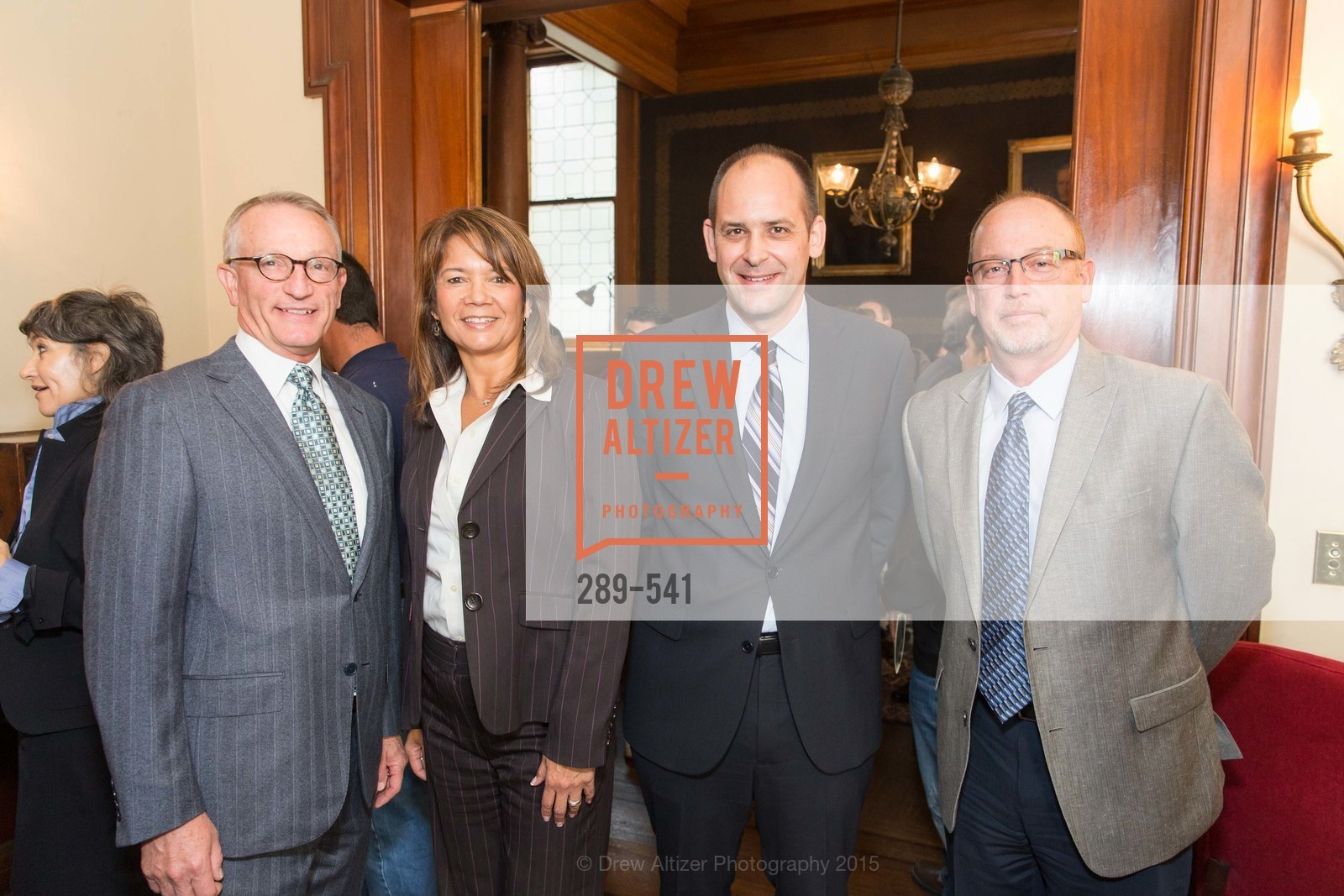 David Wessel, Rose Garrison, Mike Buhler, Tim Bosveld, Ceremony Inaugurating the Campaign for San Francisco Heritage & Haas-Lilienthal House, Haas-Lilienthal House. 2007 Franklin Street, November 18th, 2015,Drew Altizer, Drew Altizer Photography, full-service agency, private events, San Francisco photographer, photographer california