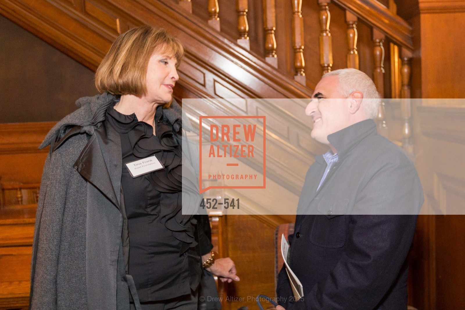 Tina Frank, Adam Hirschfelder, Ceremony Inaugurating the Campaign for San Francisco Heritage & Haas-Lilienthal House, Haas-Lilienthal House. 2007 Franklin Street, November 18th, 2015