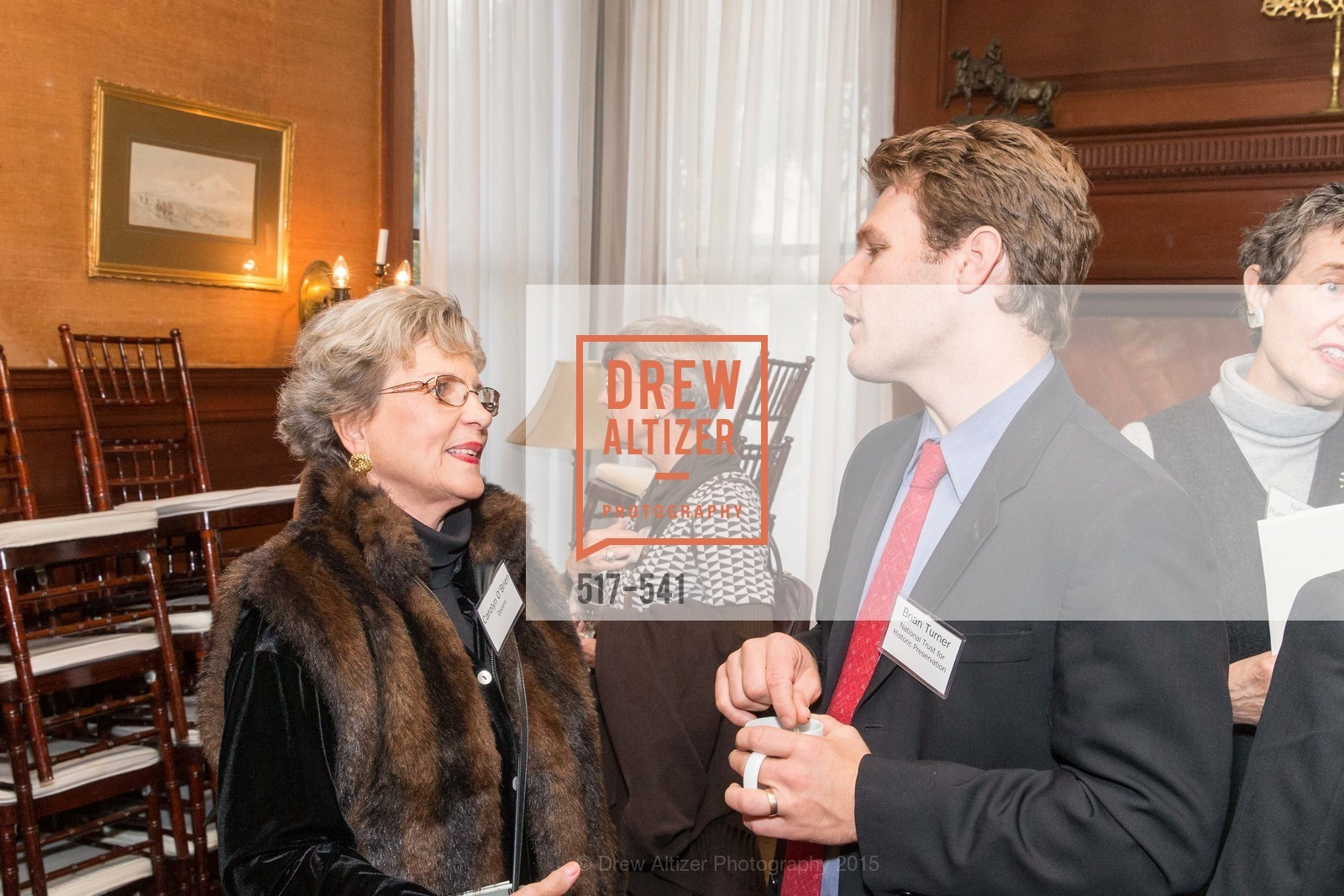 Carolyn O'Brien, Brian Turner, Ceremony Inaugurating the Campaign for San Francisco Heritage & Haas-Lilienthal House, Haas-Lilienthal House. 2007 Franklin Street, November 18th, 2015,Drew Altizer, Drew Altizer Photography, full-service agency, private events, San Francisco photographer, photographer california