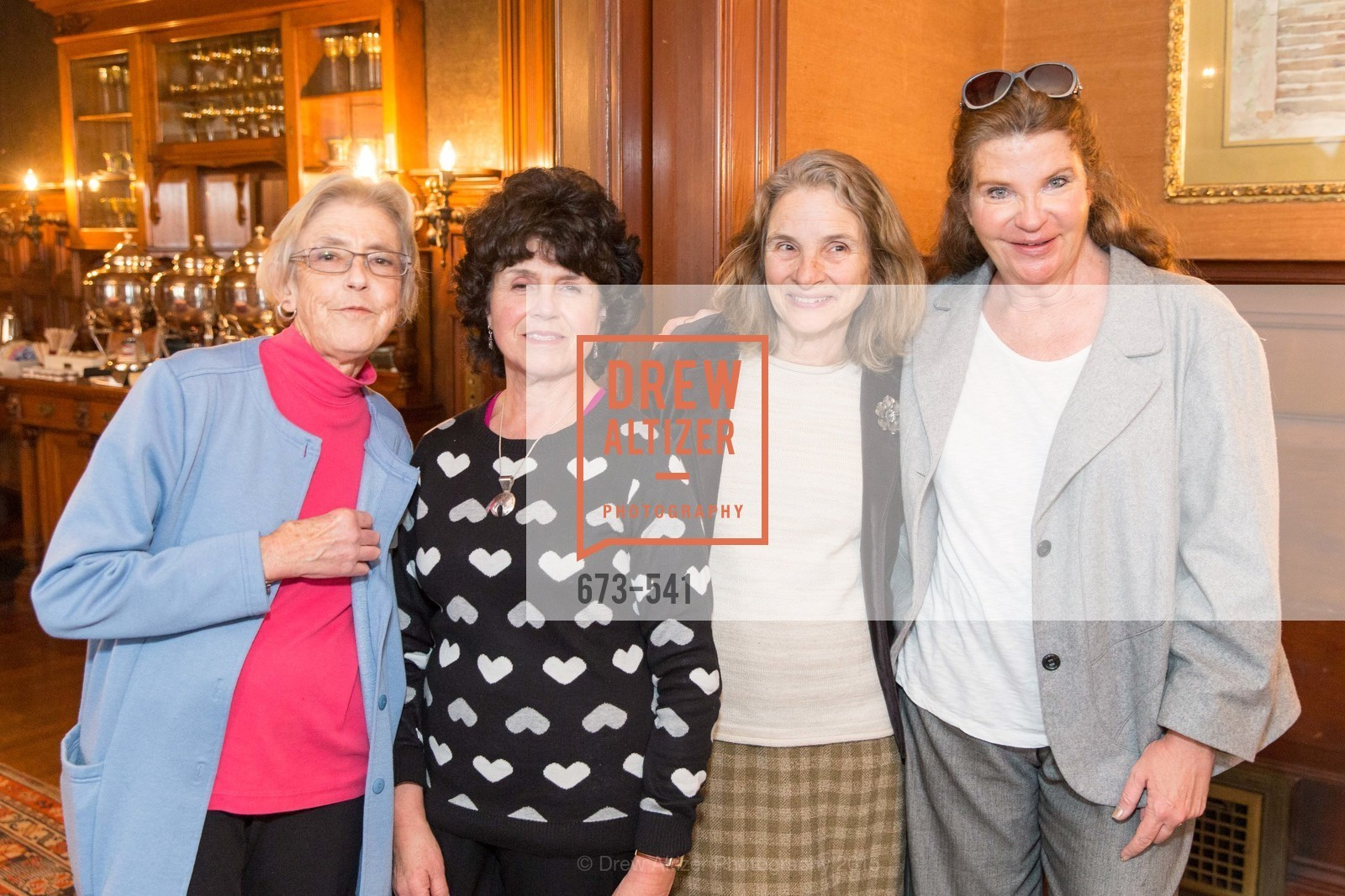 Nancy Glass, Esther Suen, Wilma Parker de Pavloff, Kathleen Hewtson, Ceremony Inaugurating the Campaign for San Francisco Heritage & Haas-Lilienthal House, Haas-Lilienthal House. 2007 Franklin Street, November 18th, 2015,Drew Altizer, Drew Altizer Photography, full-service agency, private events, San Francisco photographer, photographer california