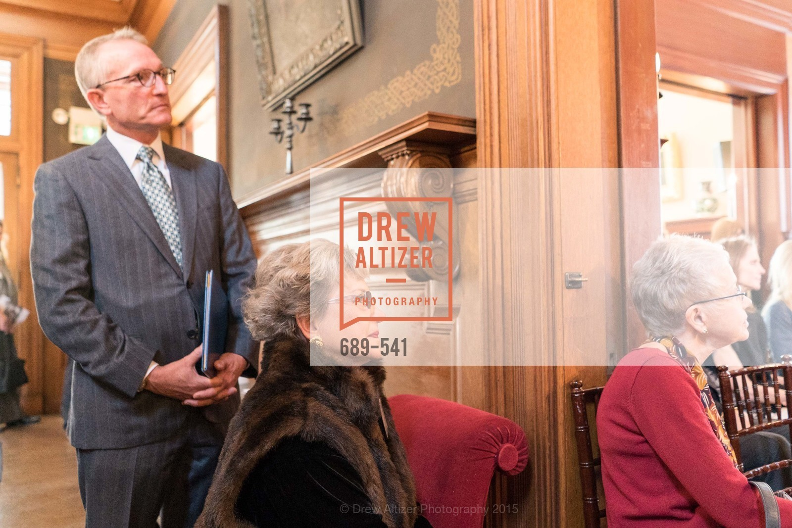 David Wessel, Carolyn O'Brien, Ceremony Inaugurating the Campaign for San Francisco Heritage & Haas-Lilienthal House, Haas-Lilienthal House. 2007 Franklin Street, November 18th, 2015