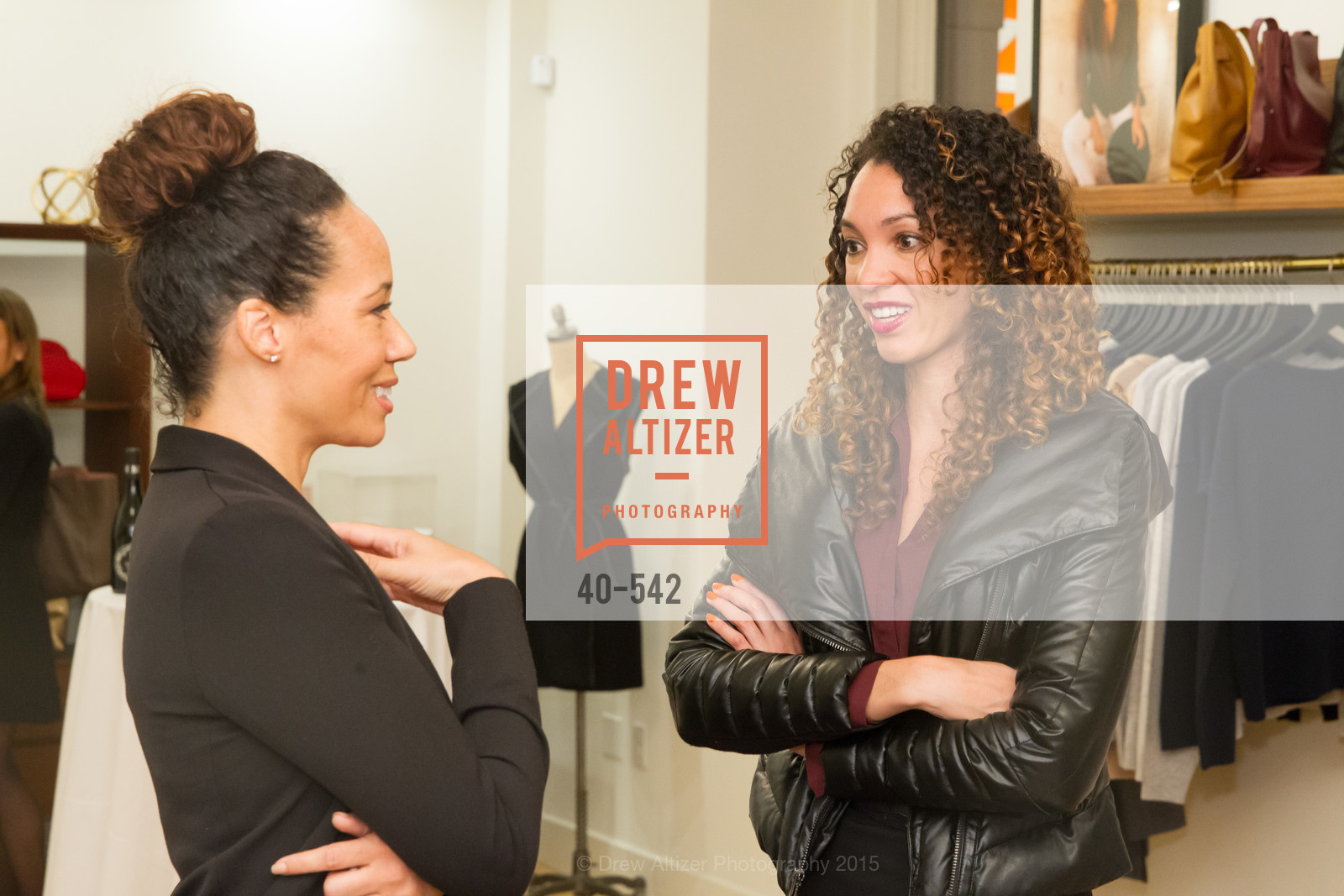 Robin McBride, Gina Clayton, Cuyana + The McBride Sisters, Cayuna Showroom. 291 Geary Street, 2nd Floor, November 19th, 2015,Drew Altizer, Drew Altizer Photography, full-service agency, private events, San Francisco photographer, photographer california
