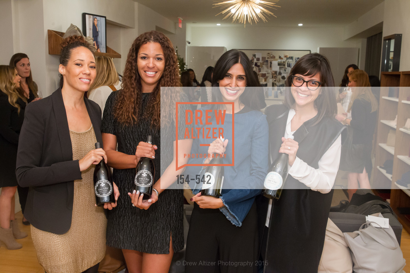 Robin McBride, Andrea McBride, Shilpa Shah, Karla Gallardo, Cuyana + The McBride Sisters, Cayuna Showroom. 291 Geary Street, 2nd Floor, November 19th, 2015,Drew Altizer, Drew Altizer Photography, full-service agency, private events, San Francisco photographer, photographer california