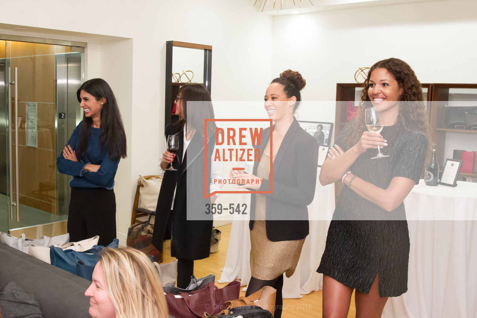 Shilpa Shah, Karla Gallardo, Robin McBride, Andrea McBride, Cuyana + The McBride Sisters, Cayuna Showroom. 291 Geary Street, 2nd Floor, November 19th, 2015,Drew Altizer, Drew Altizer Photography, full-service agency, private events, San Francisco photographer, photographer california